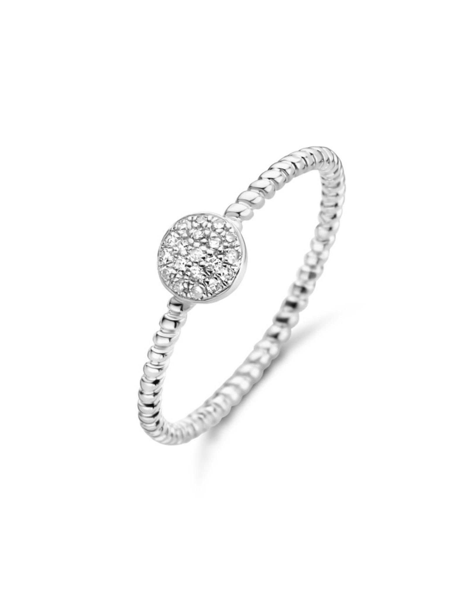 Diamanti Per Tutti Galaxy Twisted Ring - 54 - Zilver Briljant