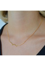 Diamanti Per Tutti Supreme Necklace - 40 cm Zilver Goudkleurig Briljant