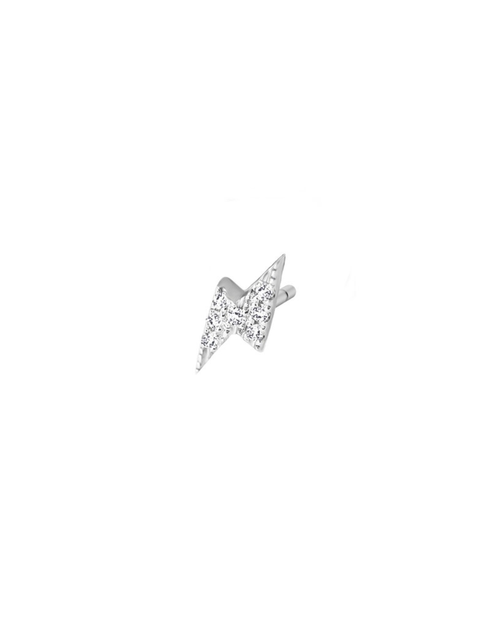 Diamanti Per Tutti Thunder Earring Single - Zilver Briljant