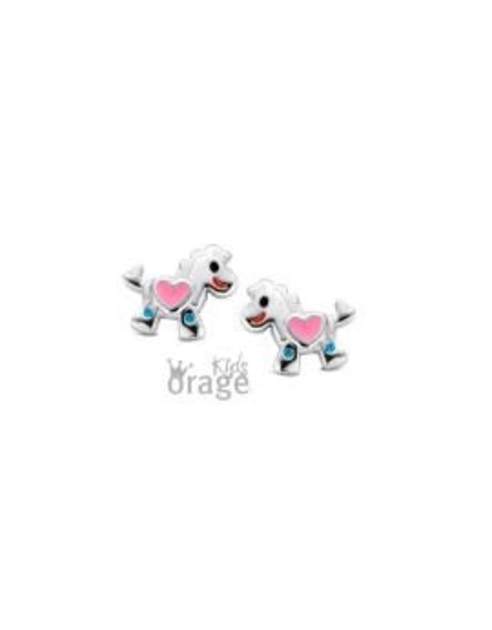 Orage Kids Oorbellen Zilver Paard K1803