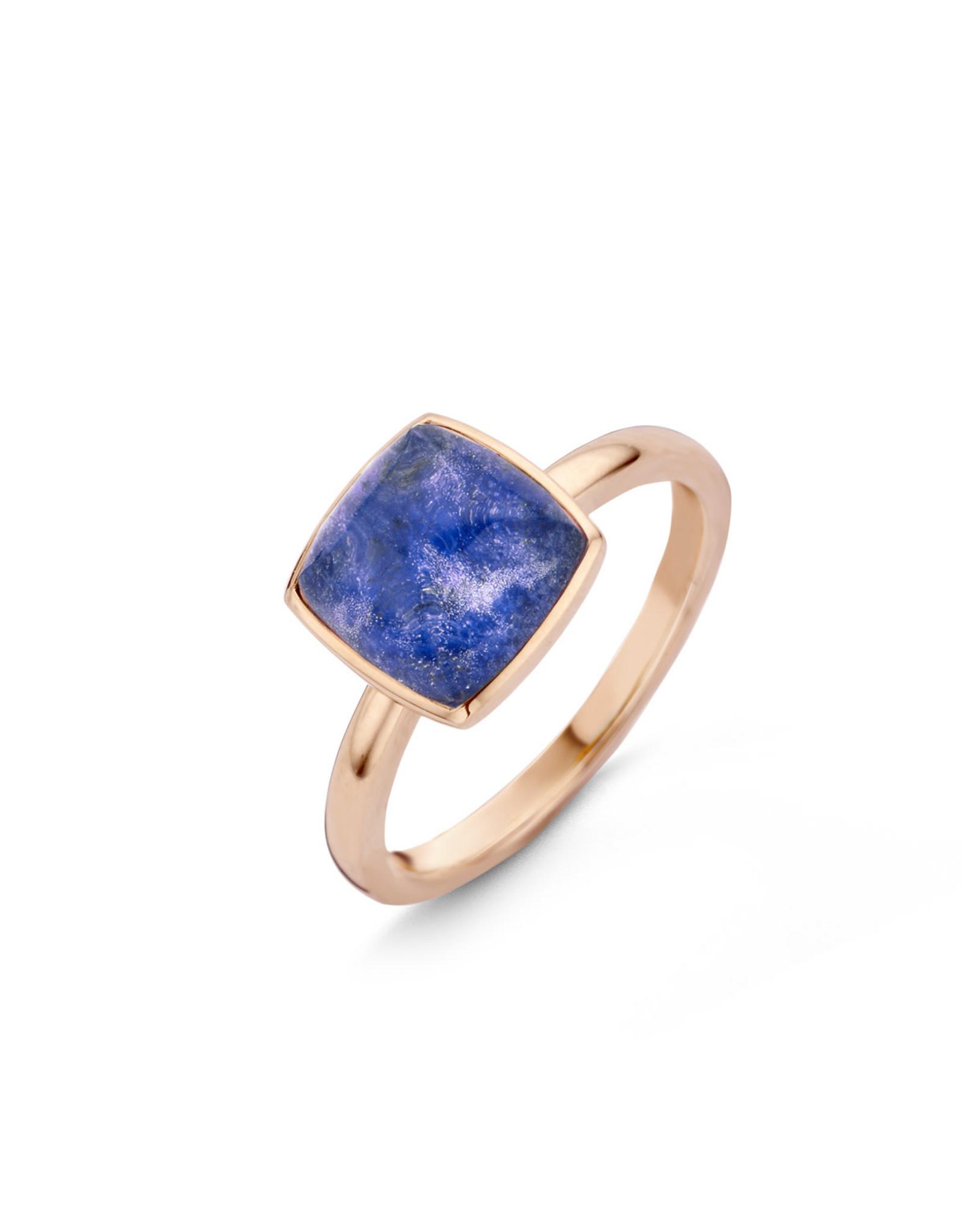 One More Ring One More 051576/NS in 18 Kt rosé goud gezet met bergkristal op sodaliet