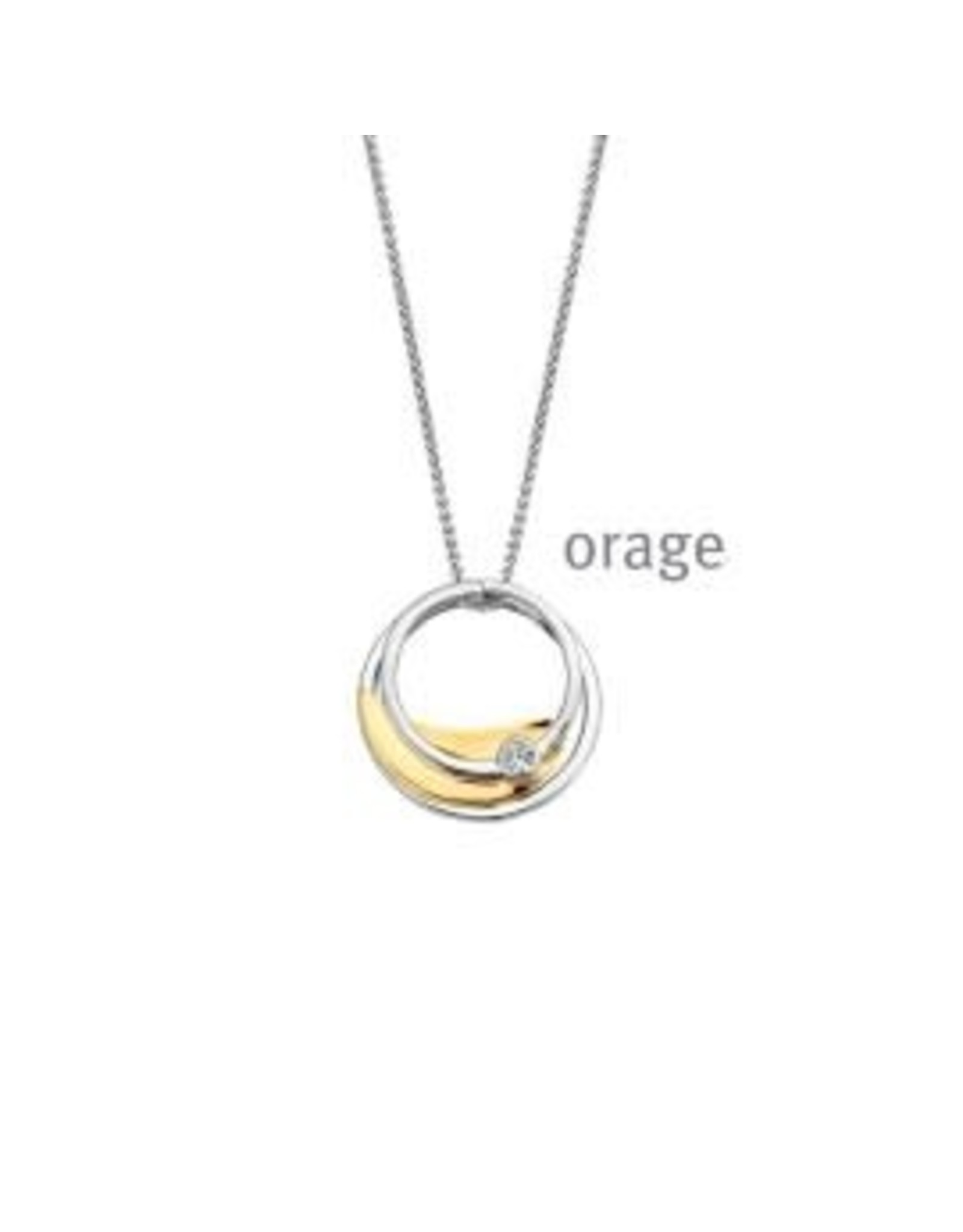 Orage Halsketting Orage AR160 Zilver Bicolor