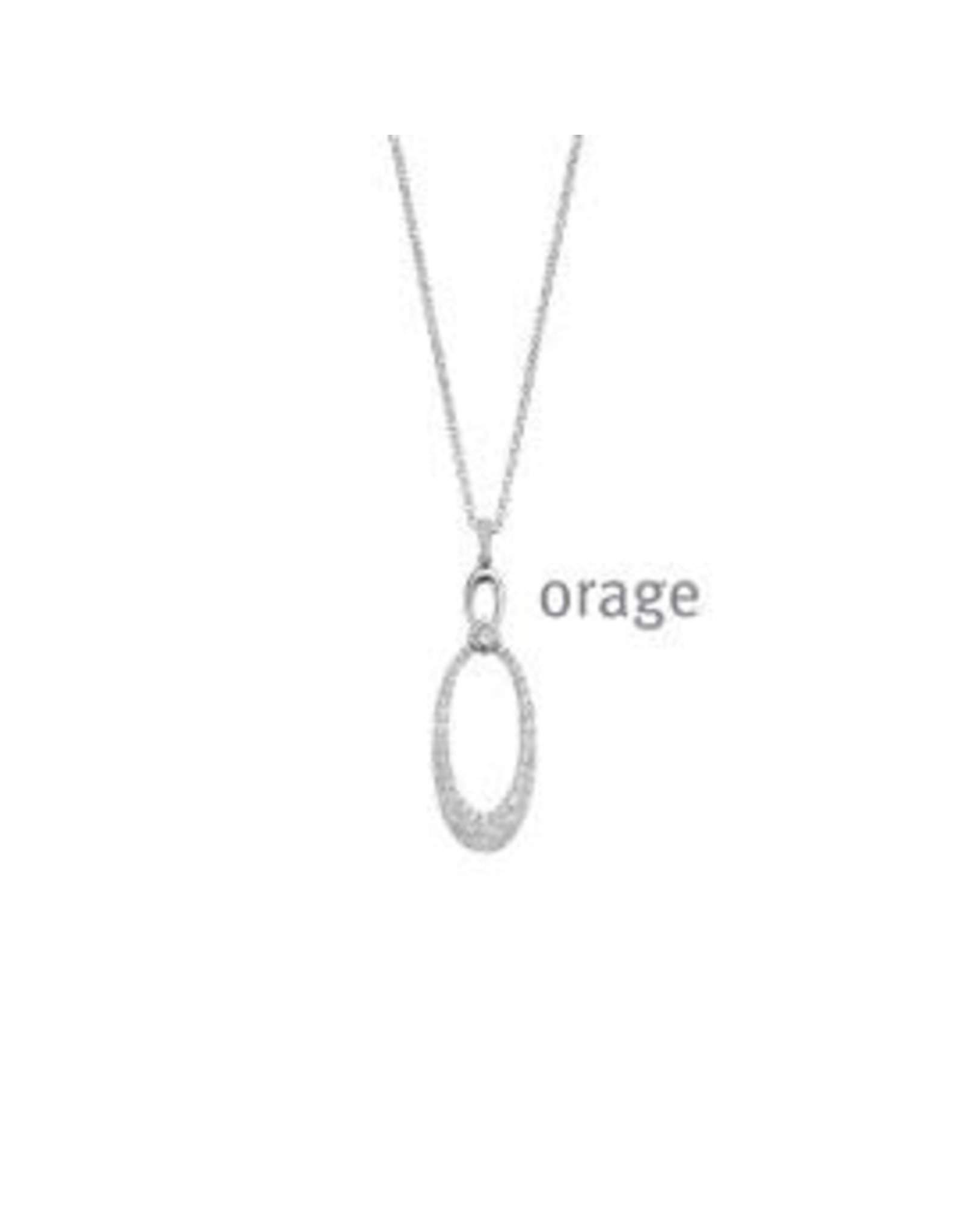 Orage Halsketting Orage AR165 Zilver