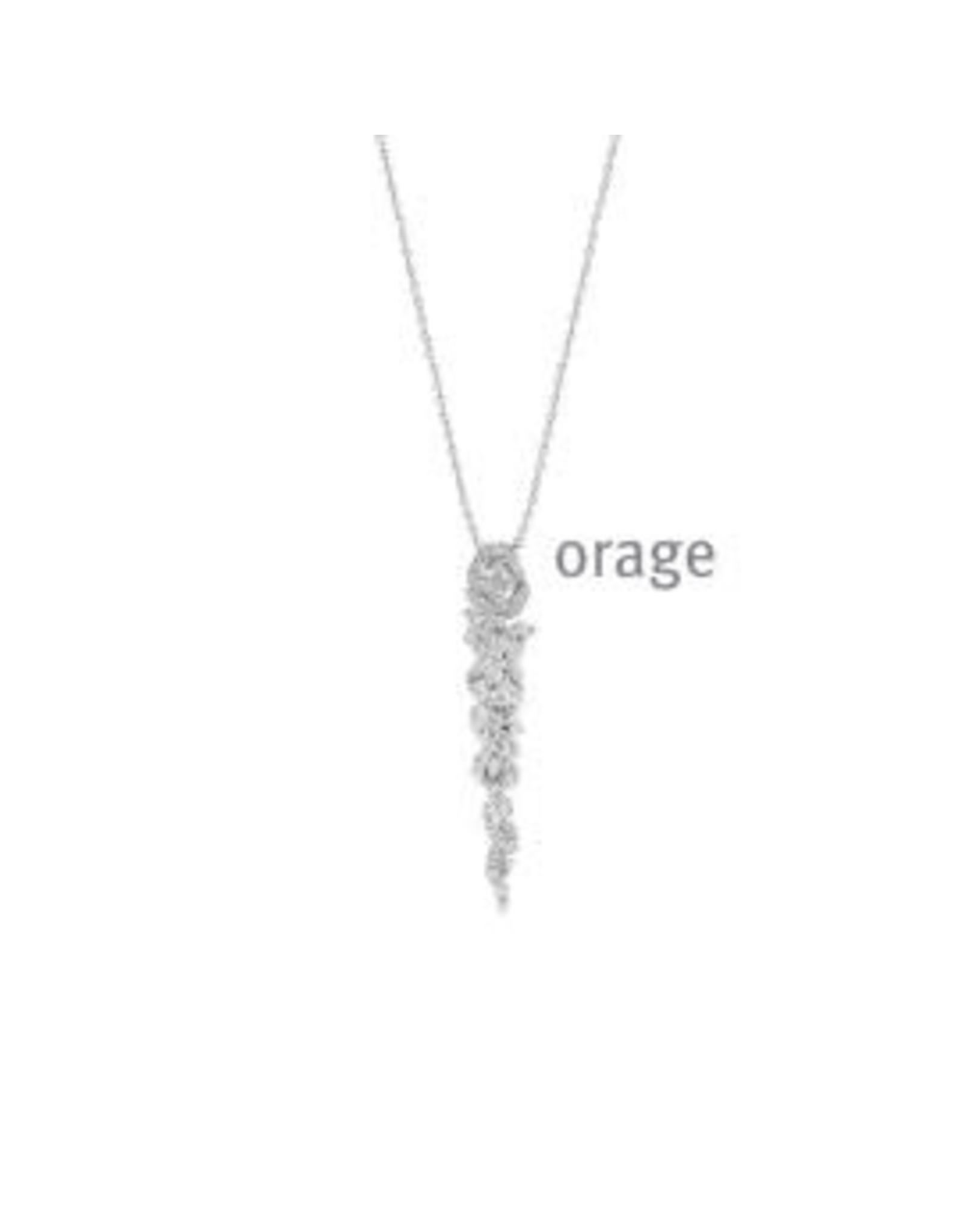 Orage Halsketting Orage AR107 Zilver