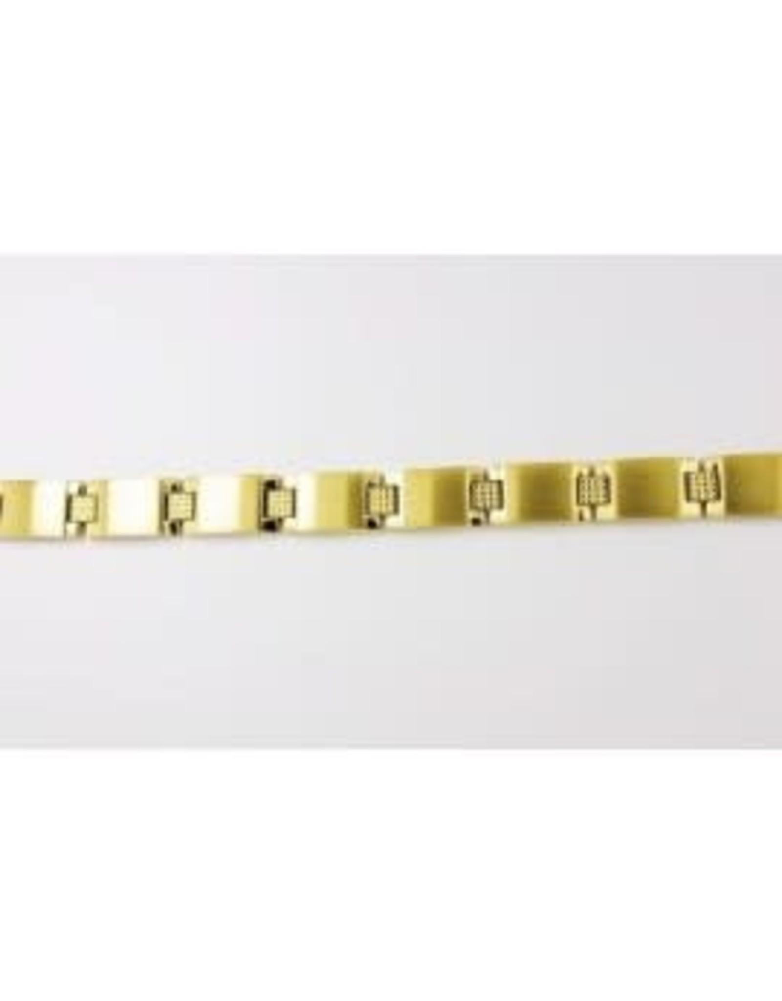 Orage Armband Orage A/2409/21 Heren Staal Verguld