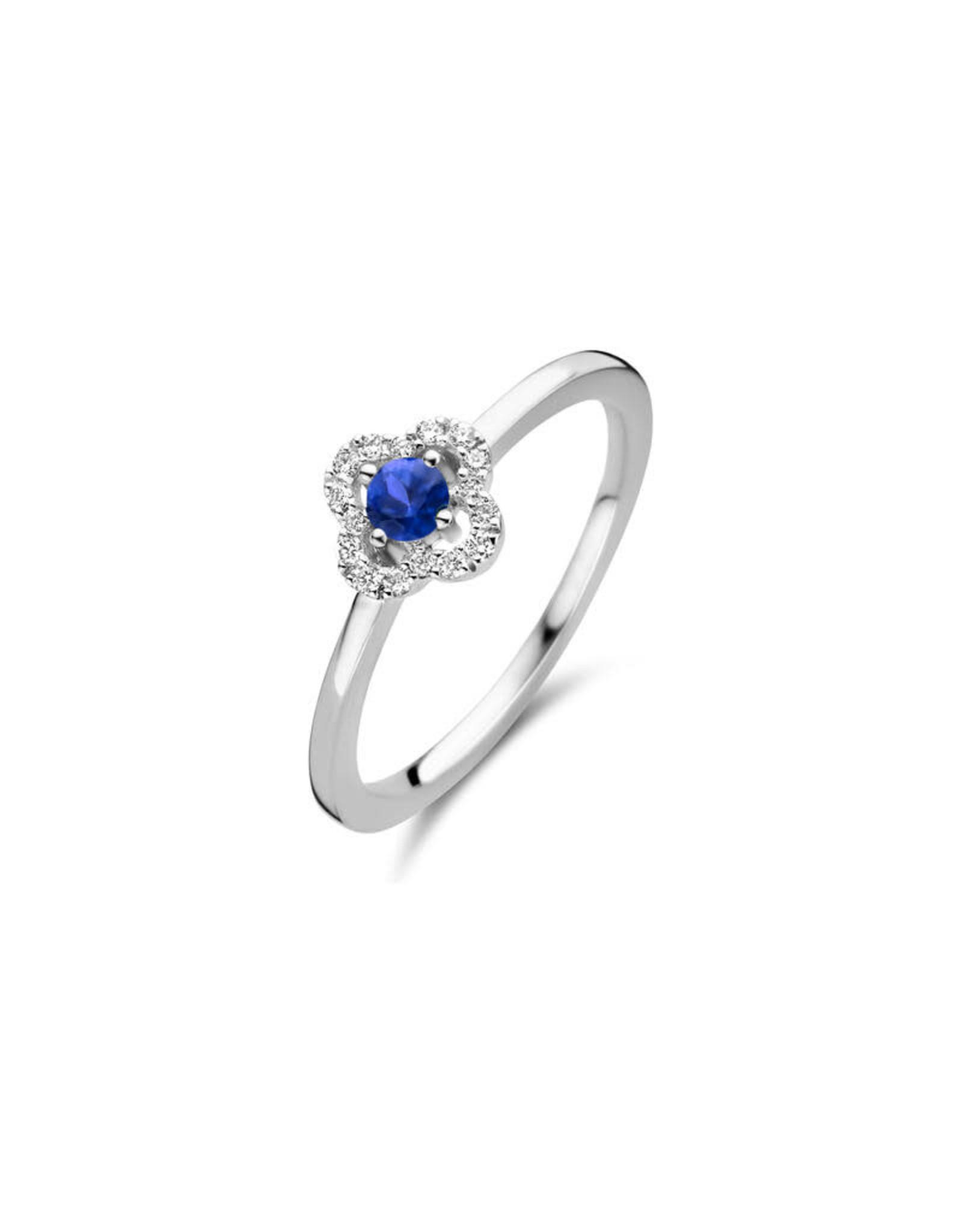 One More Ring One More Wit Goud 18kt 062249/SA-54 Blauwe Saffier Briljant