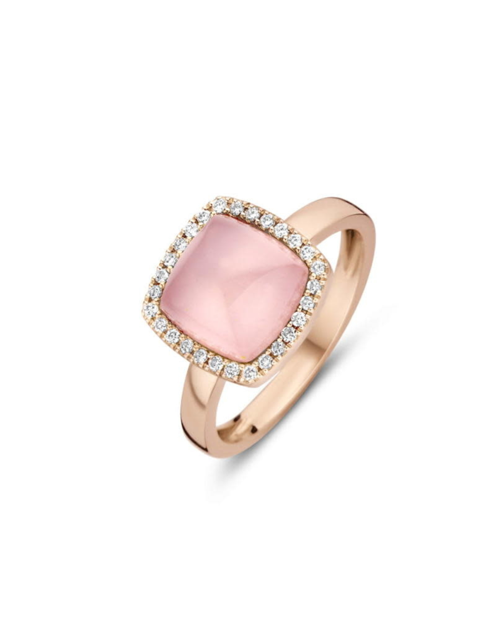 One More Ring One More Roos Goud 18kt 062250/XN Roze kwarts op parelmoer  Briljant