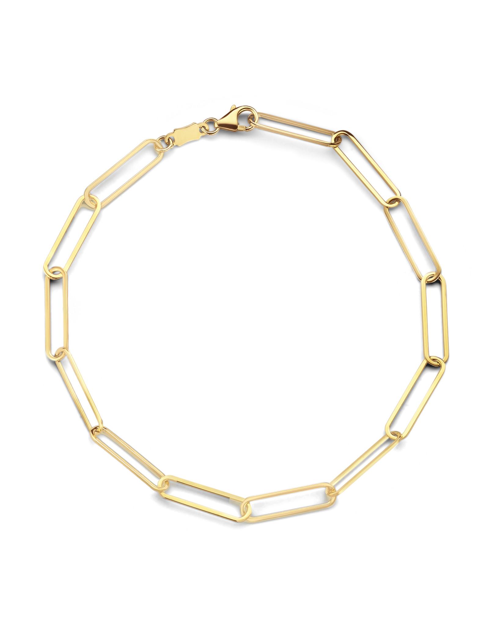 Armband Schakel Geel Goud 18 kt 063123/18
