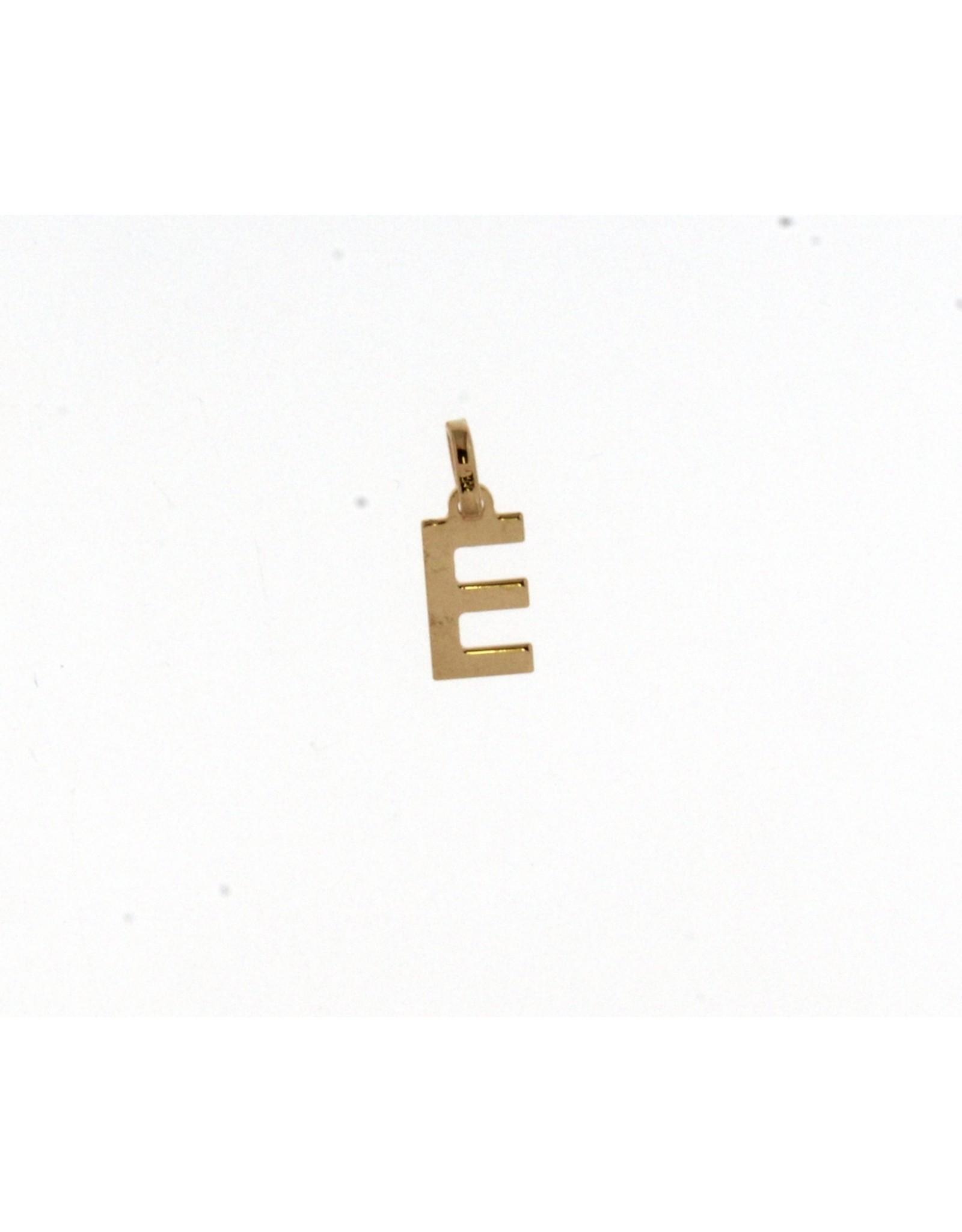 Hanger Letter 06252E Geel Goud 18kt