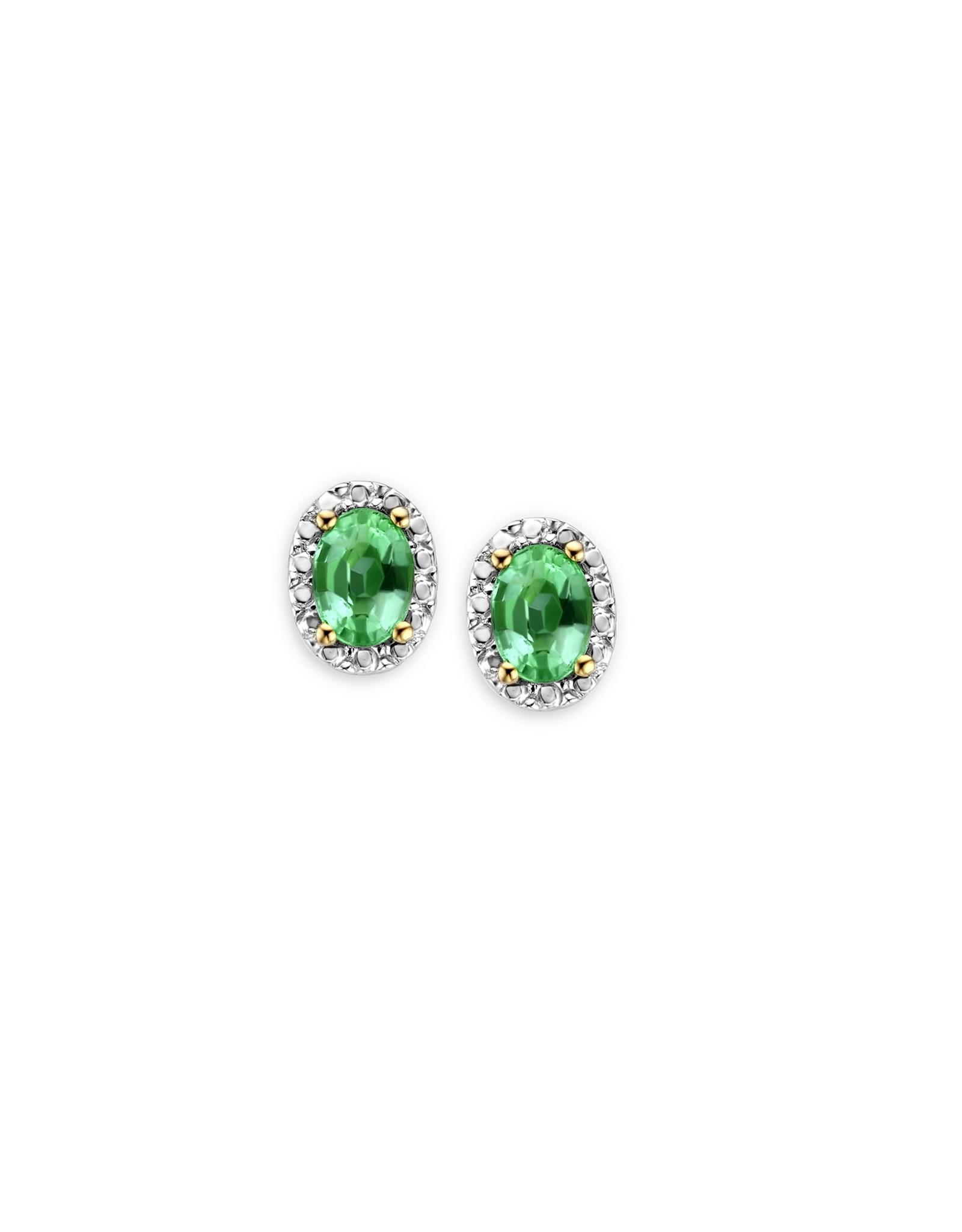 Oorbellen Geel Goud 18kt 062082/E Smaragd