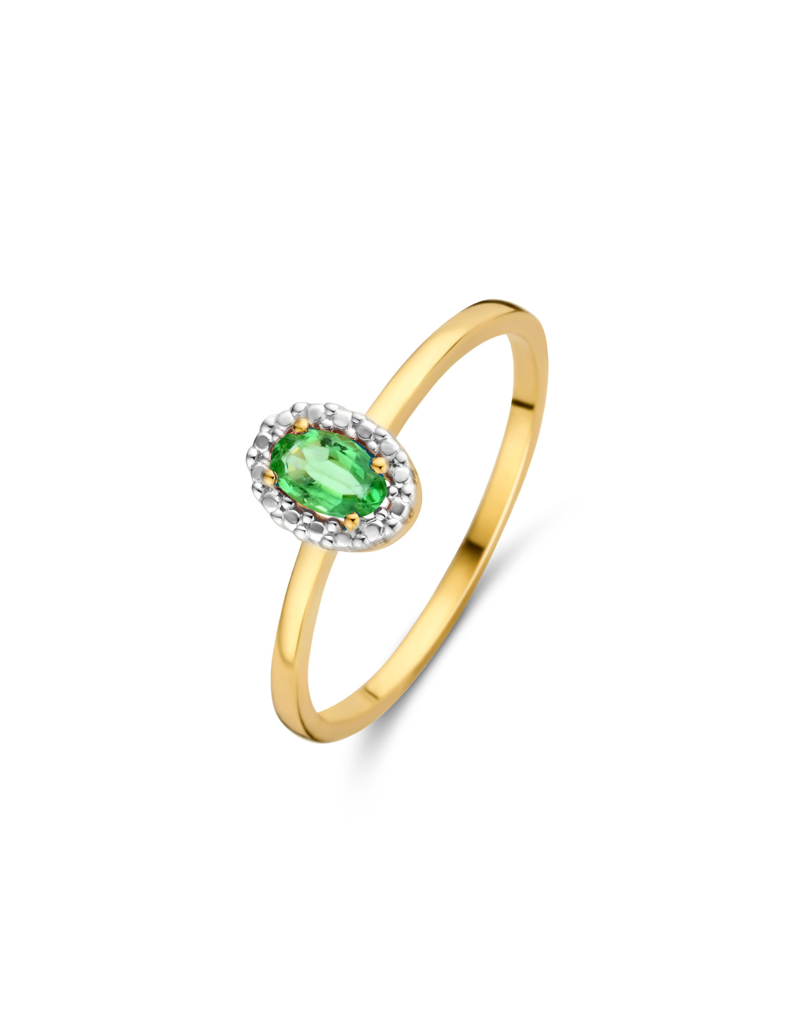 Ring Entourage Geel Goud 18kt 062080/E Smaragd