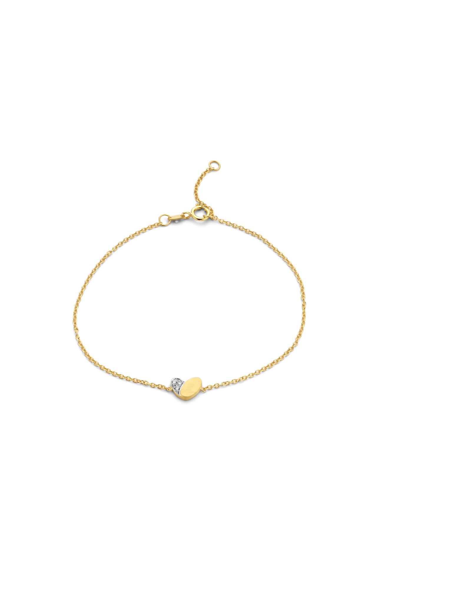 Femme adoree Armband geel goud 18kt 0.04ct 03A0309