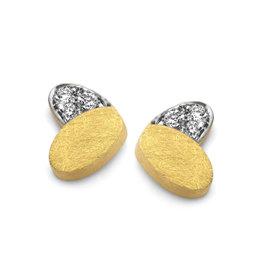 Femme adoree Oorbellen geel goud 18kt 0.06ct 03O0307