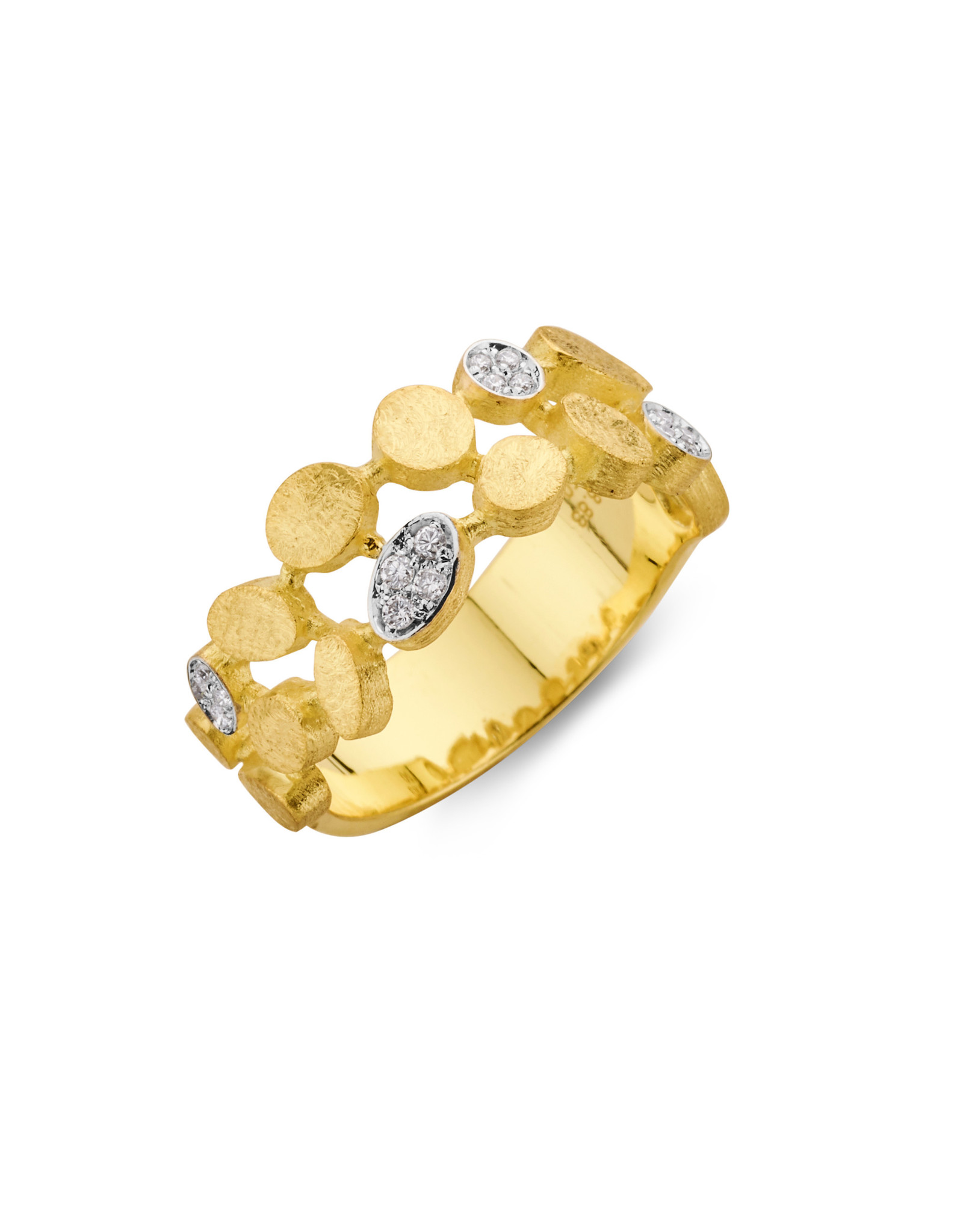 Femme adoree Ring geel goud 18kt 0.11ct 03R0312
