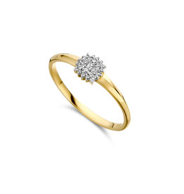 Dulci Nea Ring geel goud 0.07ct maat 54 DN49