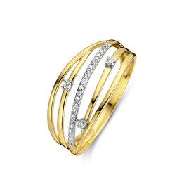 Dulci Nea Ring geel goud 0.08ct DN66 maat 55