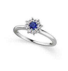 Viventy Ring Zilver Viventy Blauwe Topaas 783381-54