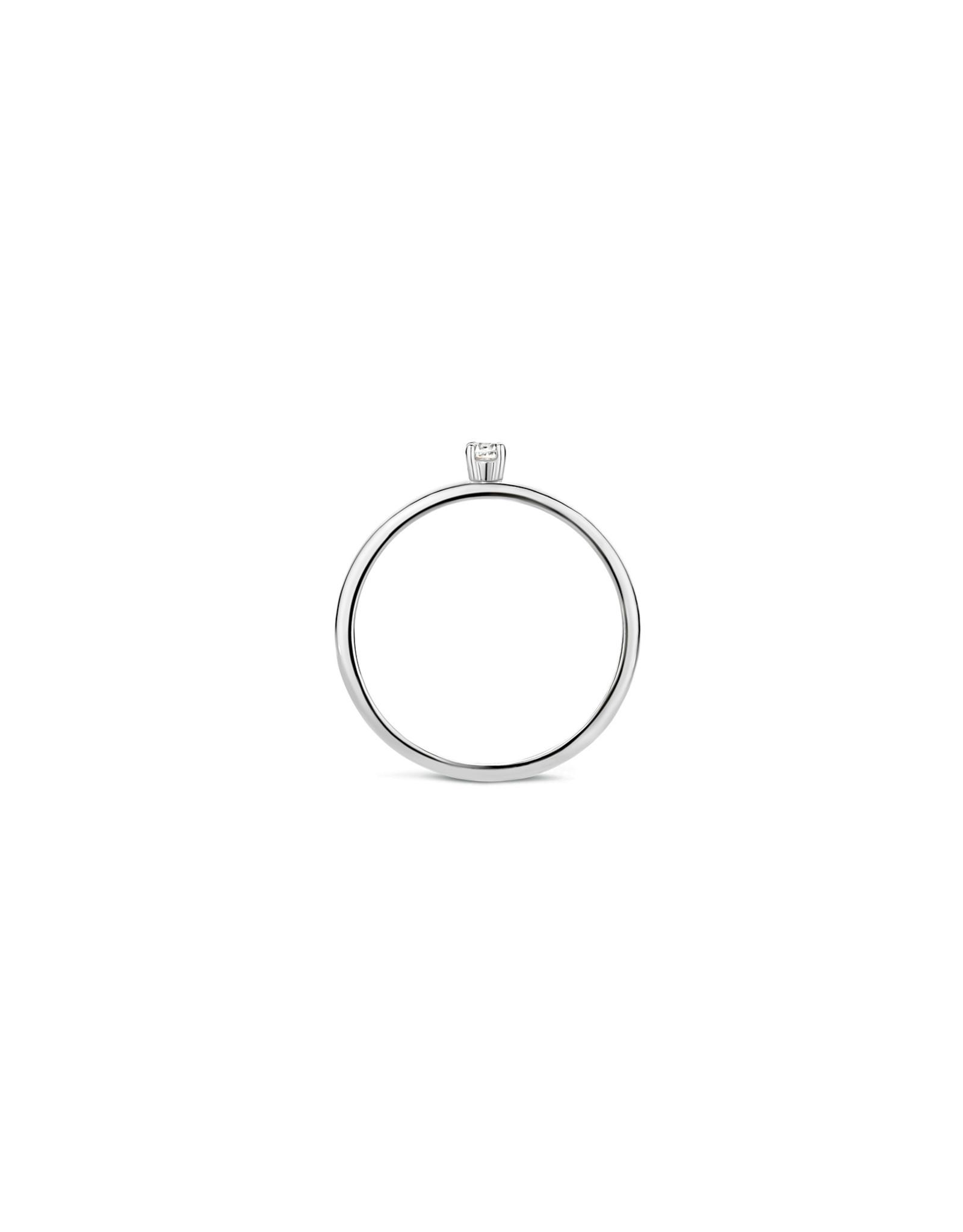 blush Ring Blush Wit Goud 14kt 1200WZI Zirkonium maat 52