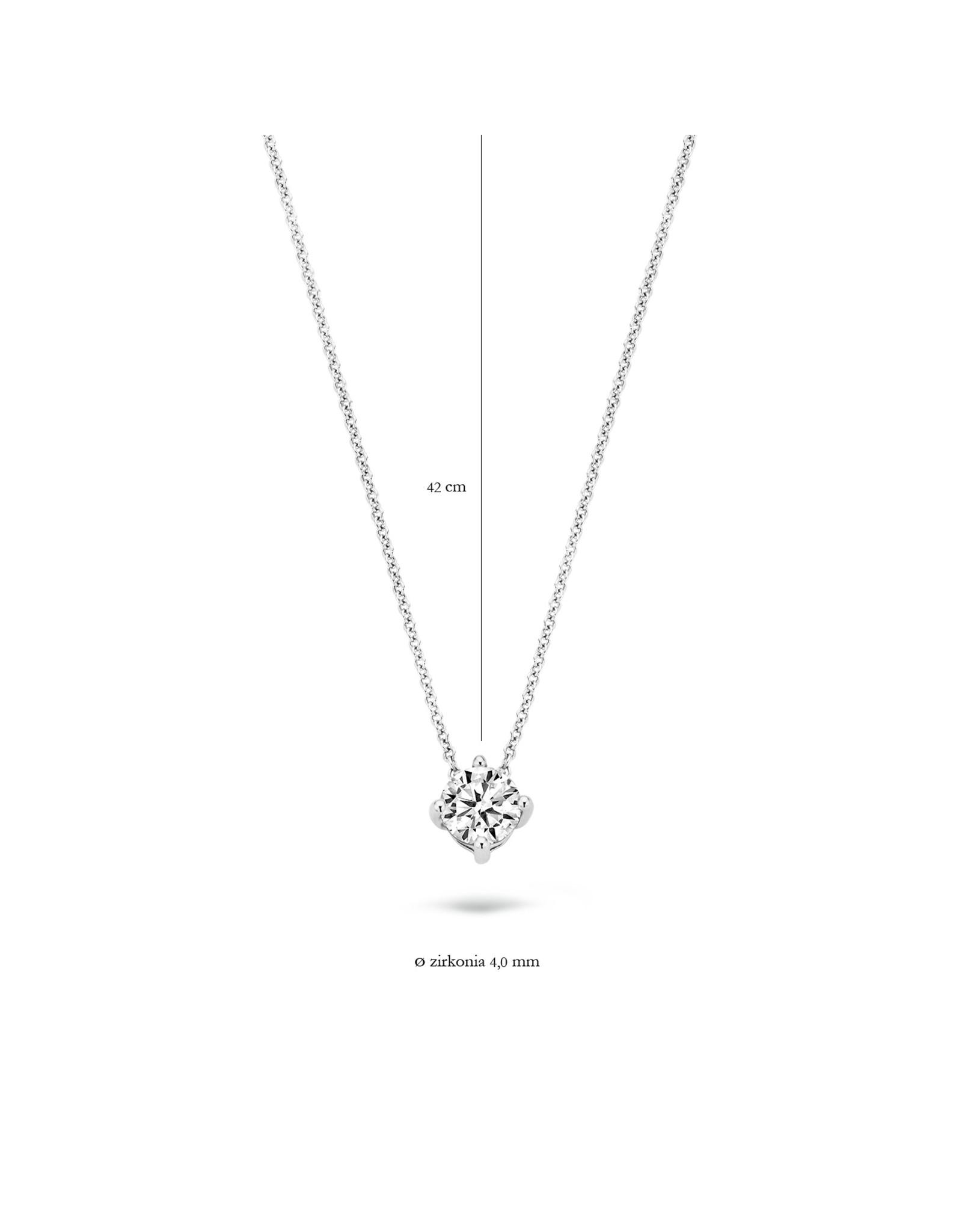 Blush Halsketting wit goud 14kt 3057WZI zircoon