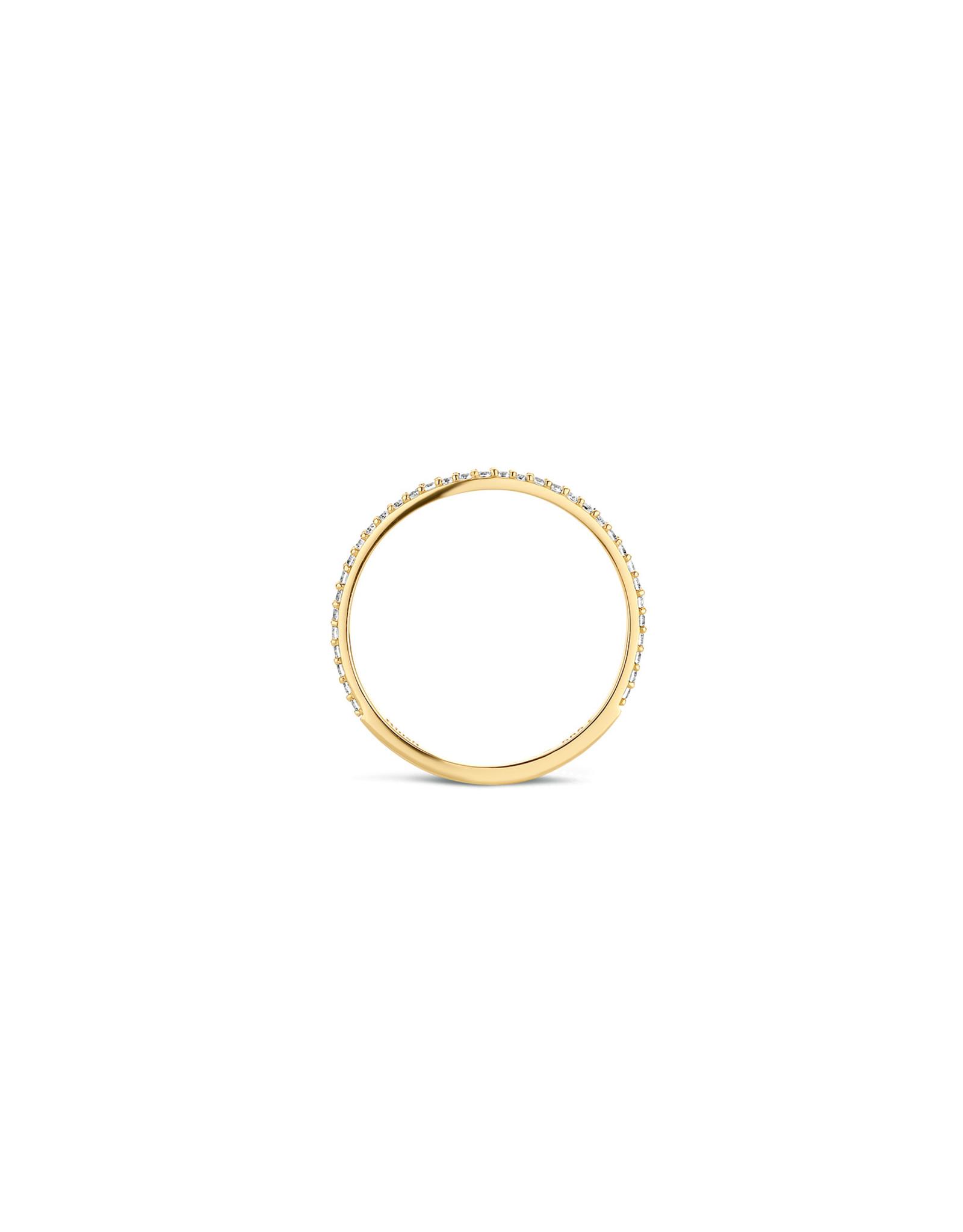 Blush Ring geel goud 14kt 1201YZI zircoon maat 54