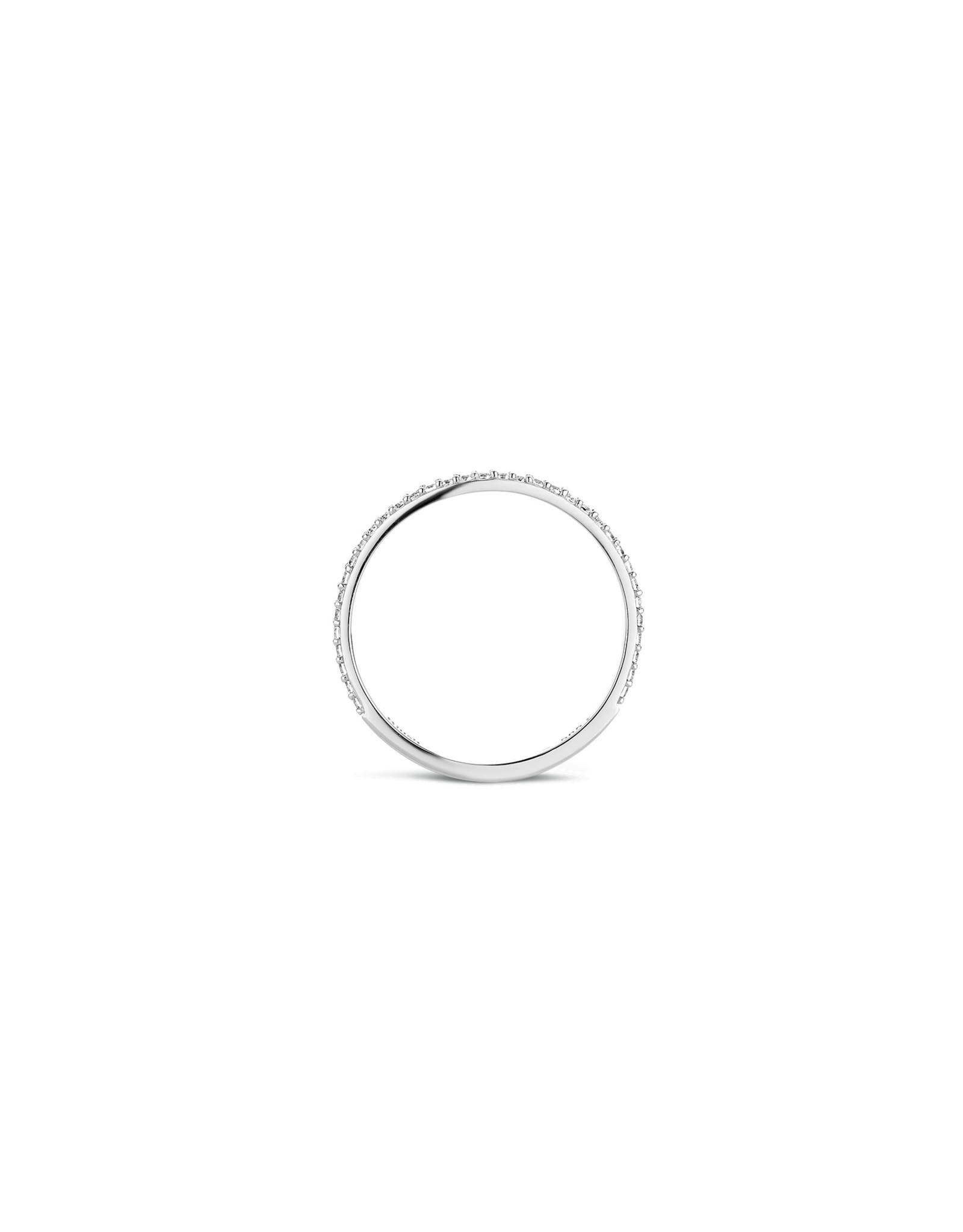 Blush Ring wit goud 14kt 1201WZI zircoon maat 52