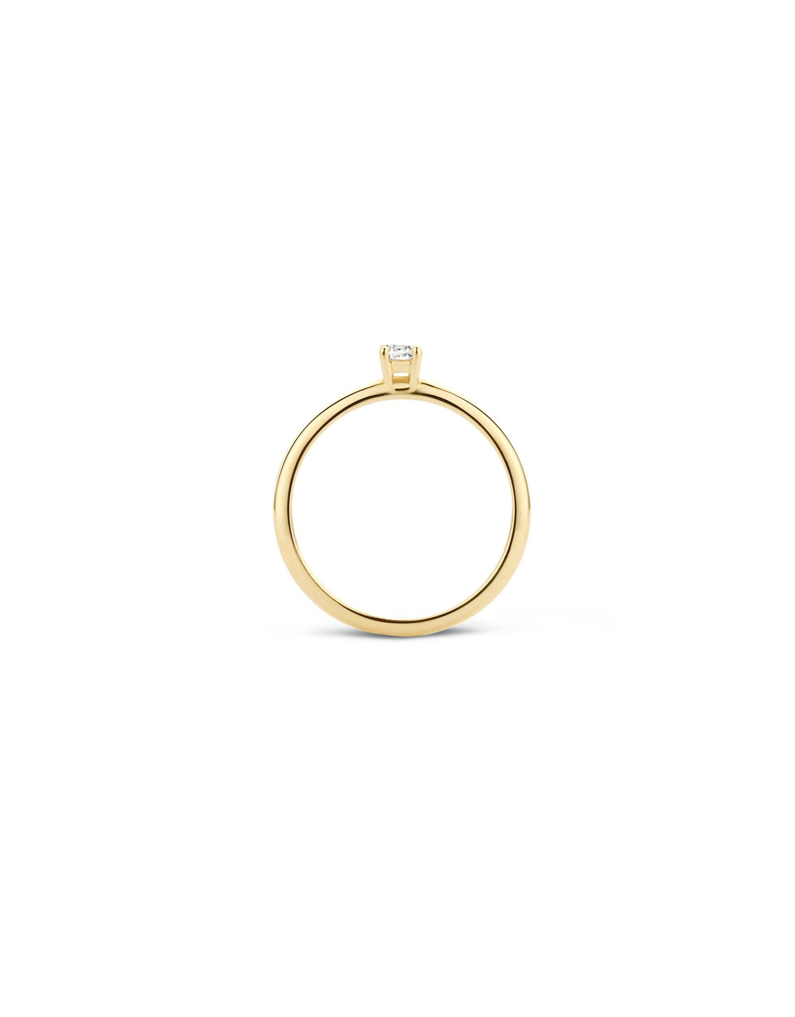 Blush Ring geel goud 14kt 1112YZI zircoon maat 50