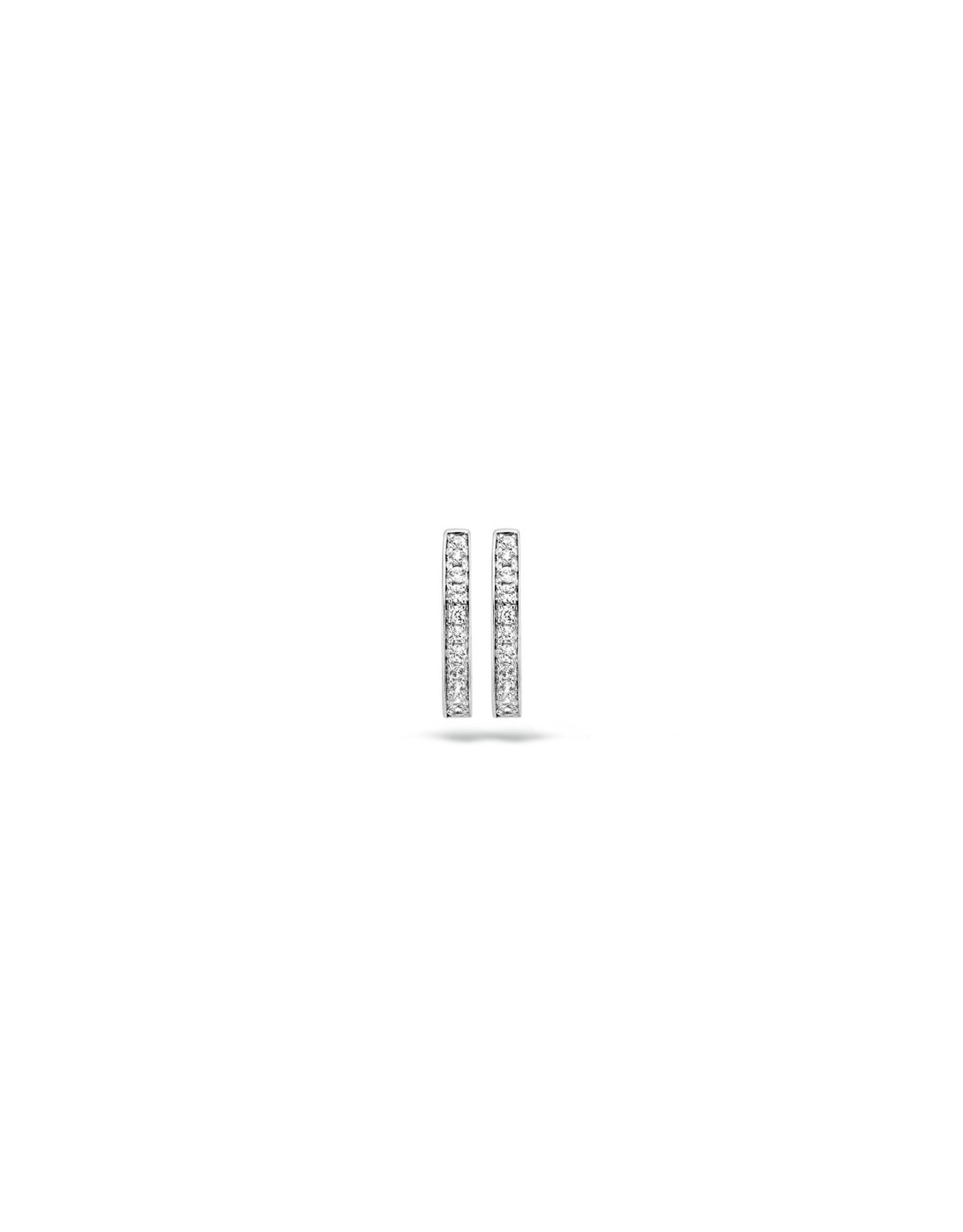blush Oorbellen creolen wit goud 14kt 7163WZI zircoon