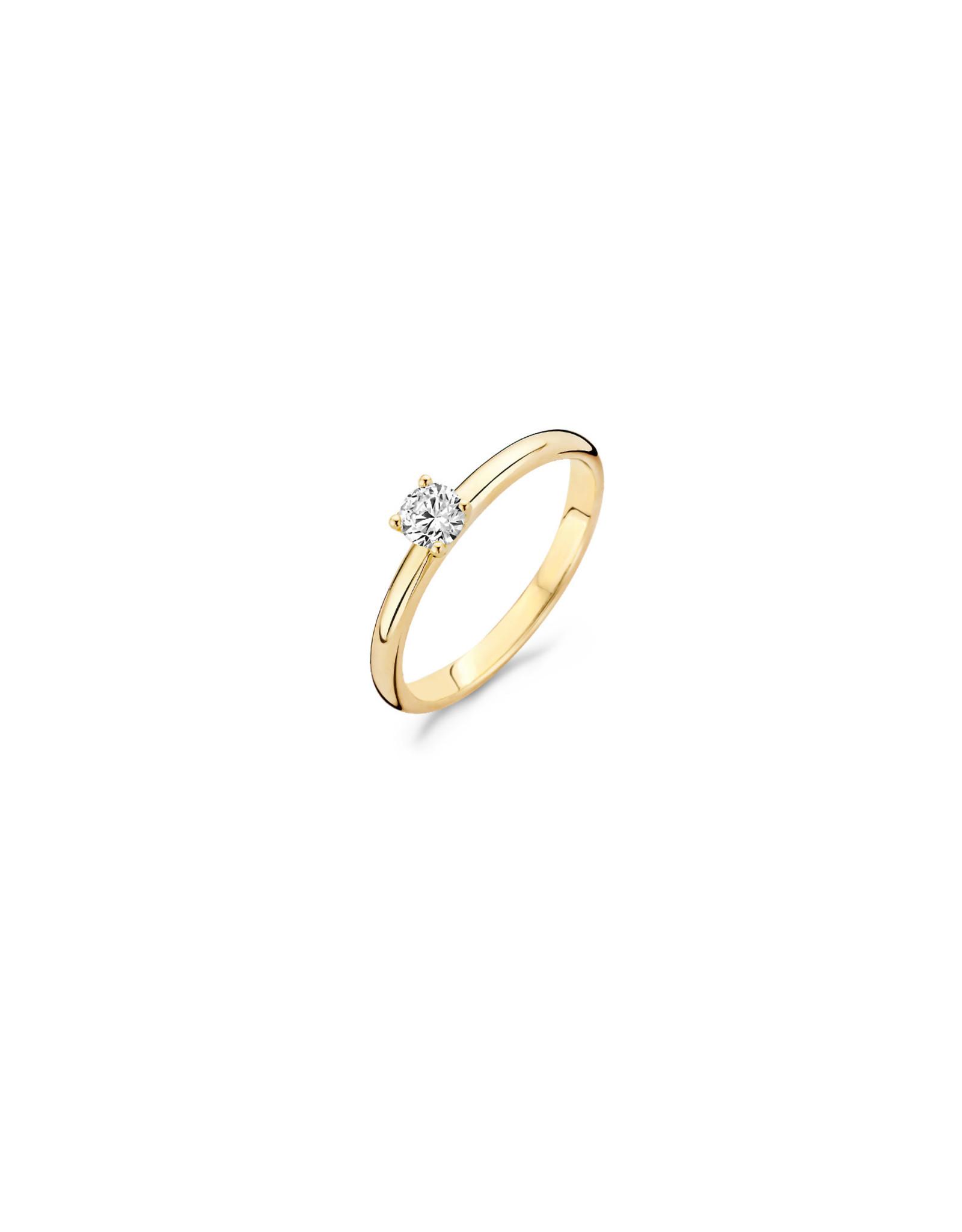 blush Ring Blush geel goud 14kt 1132YZI zircoon maat 52