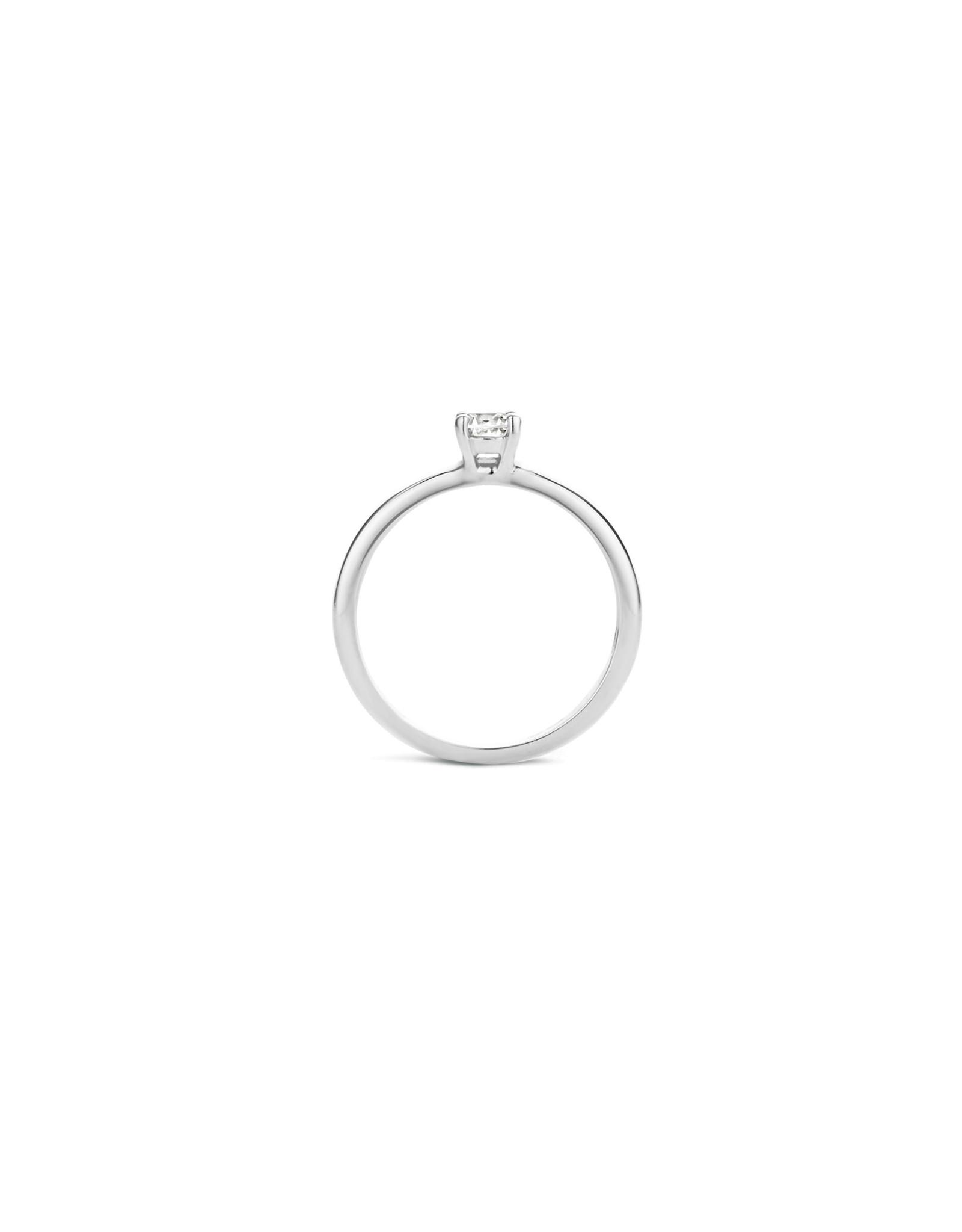 blush Ring wit goud 14kt 1133WZI zircoon maat 50