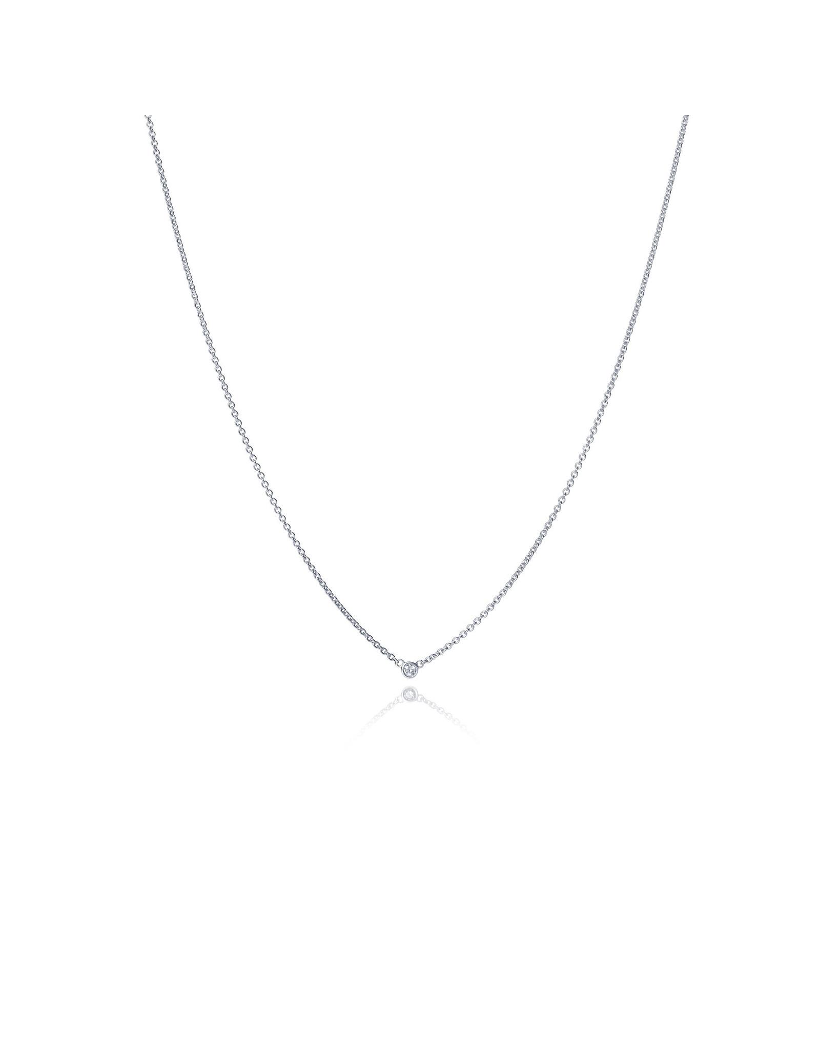 Miss Spring Halsketting Button Wit Goud 18kt MSC024DIWG Diamant