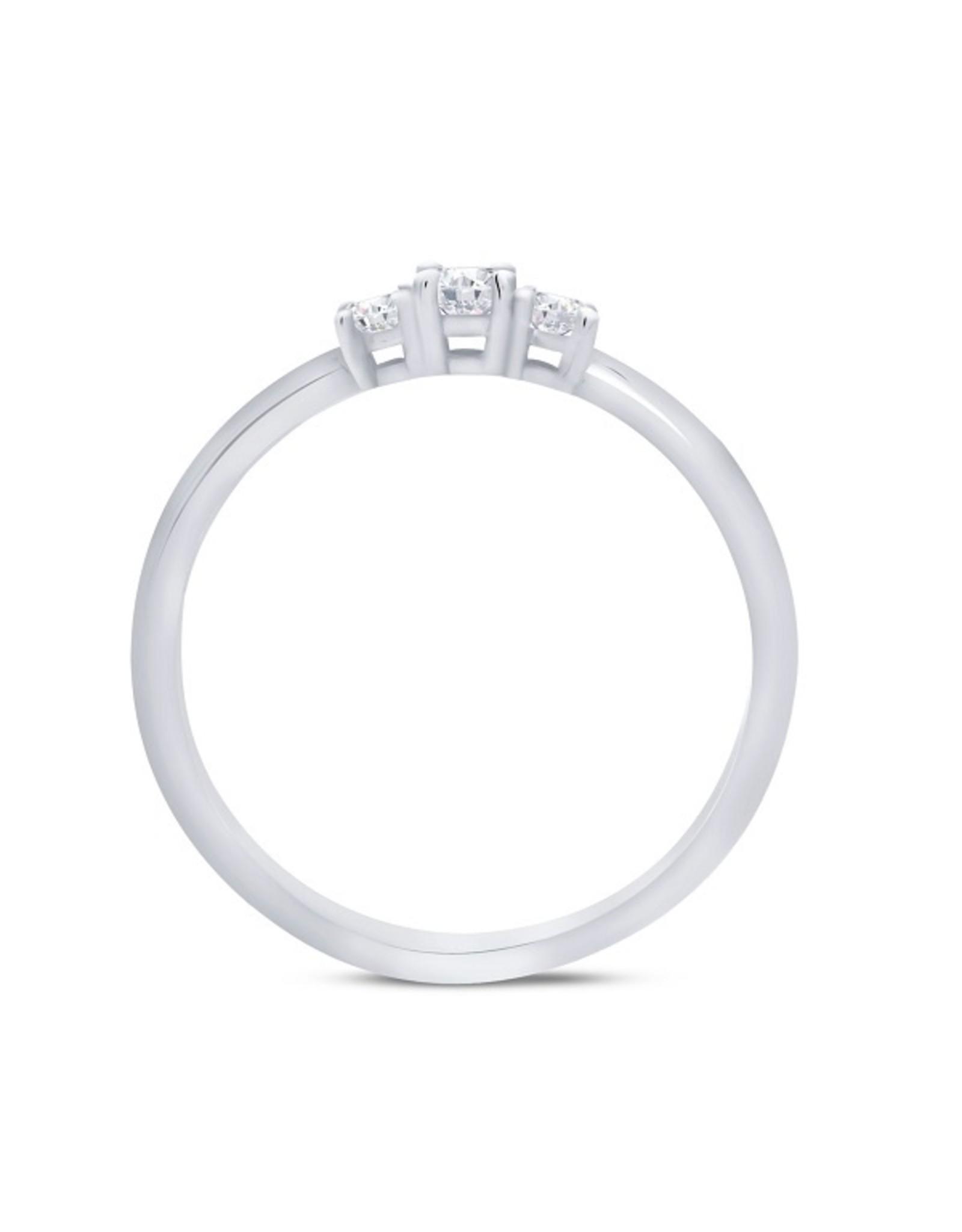 Miss Spring Ring Wit Goud 18kt Miss Trinity MSR586WG