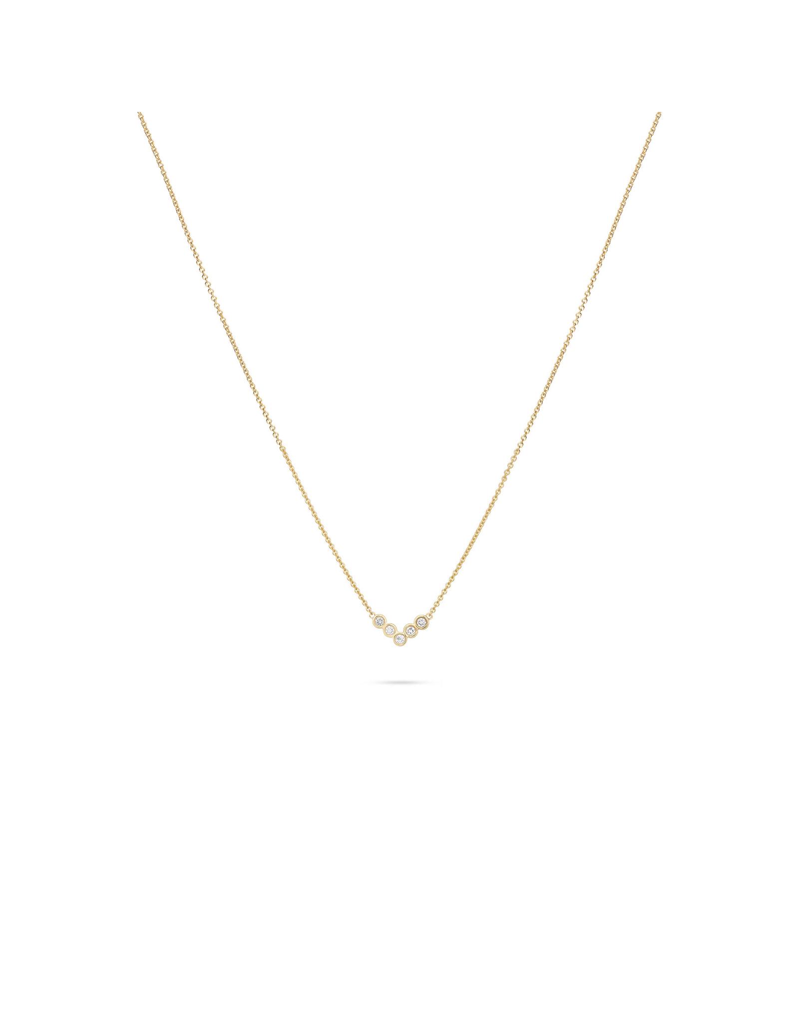 Miss Spring Halsketting Button Geel Goud 18kt MSC545GG-DI Diamant