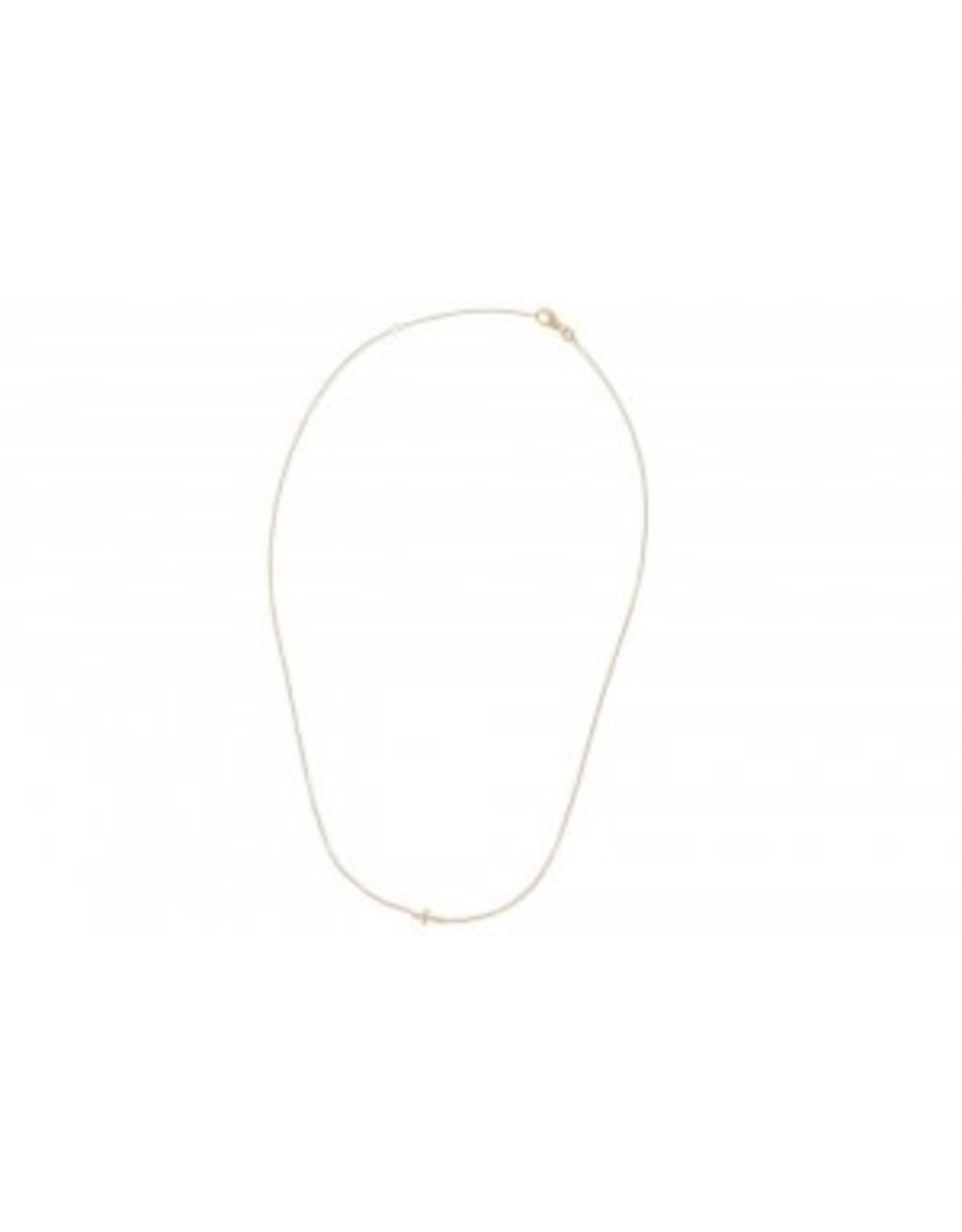 Miss Spring Halsketting Tiny Ones Geel Goud 18kt MSC156GG Kruisje