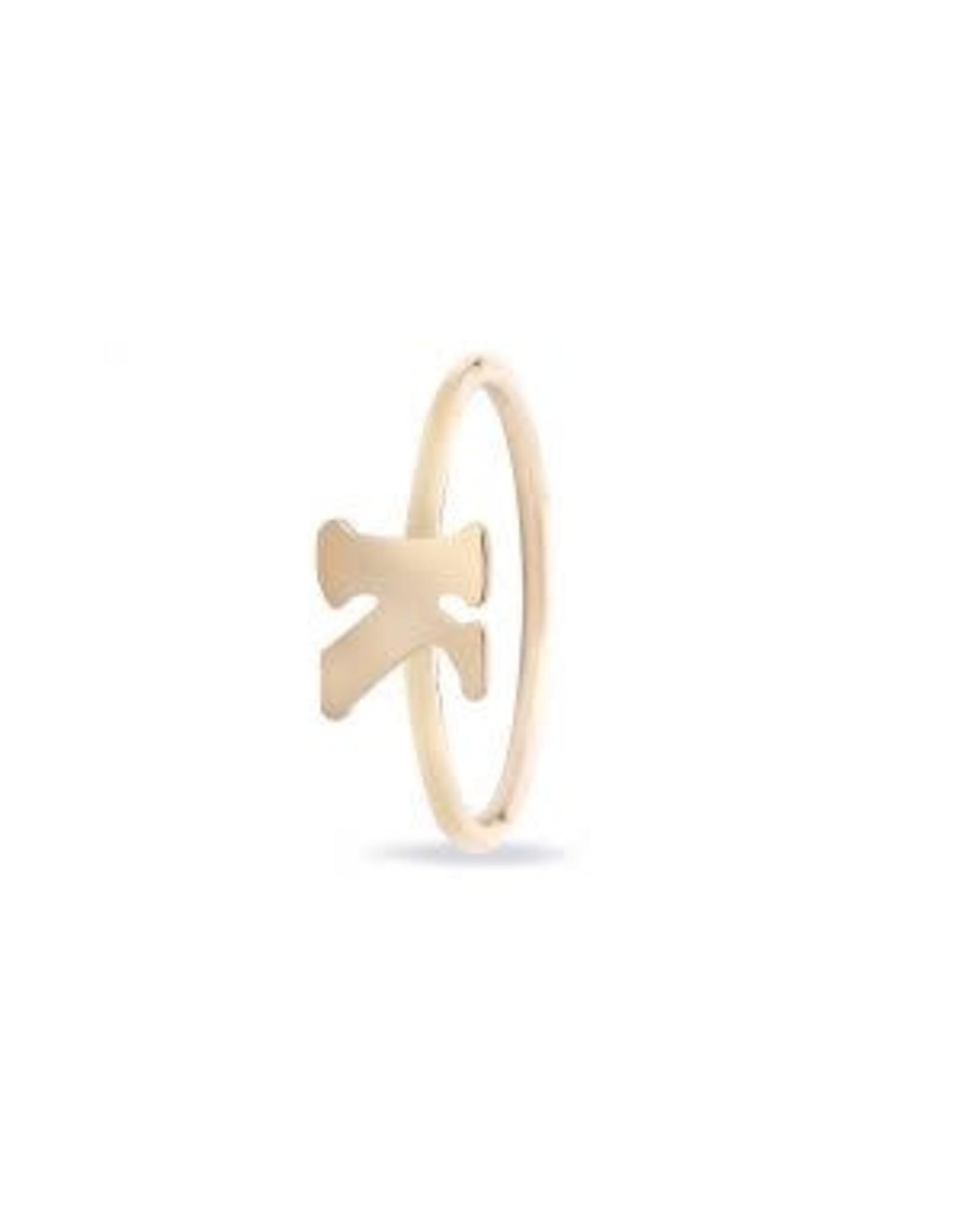 Miss Spring Ring Geel Goud 18kt MSR194GG-LETTER D