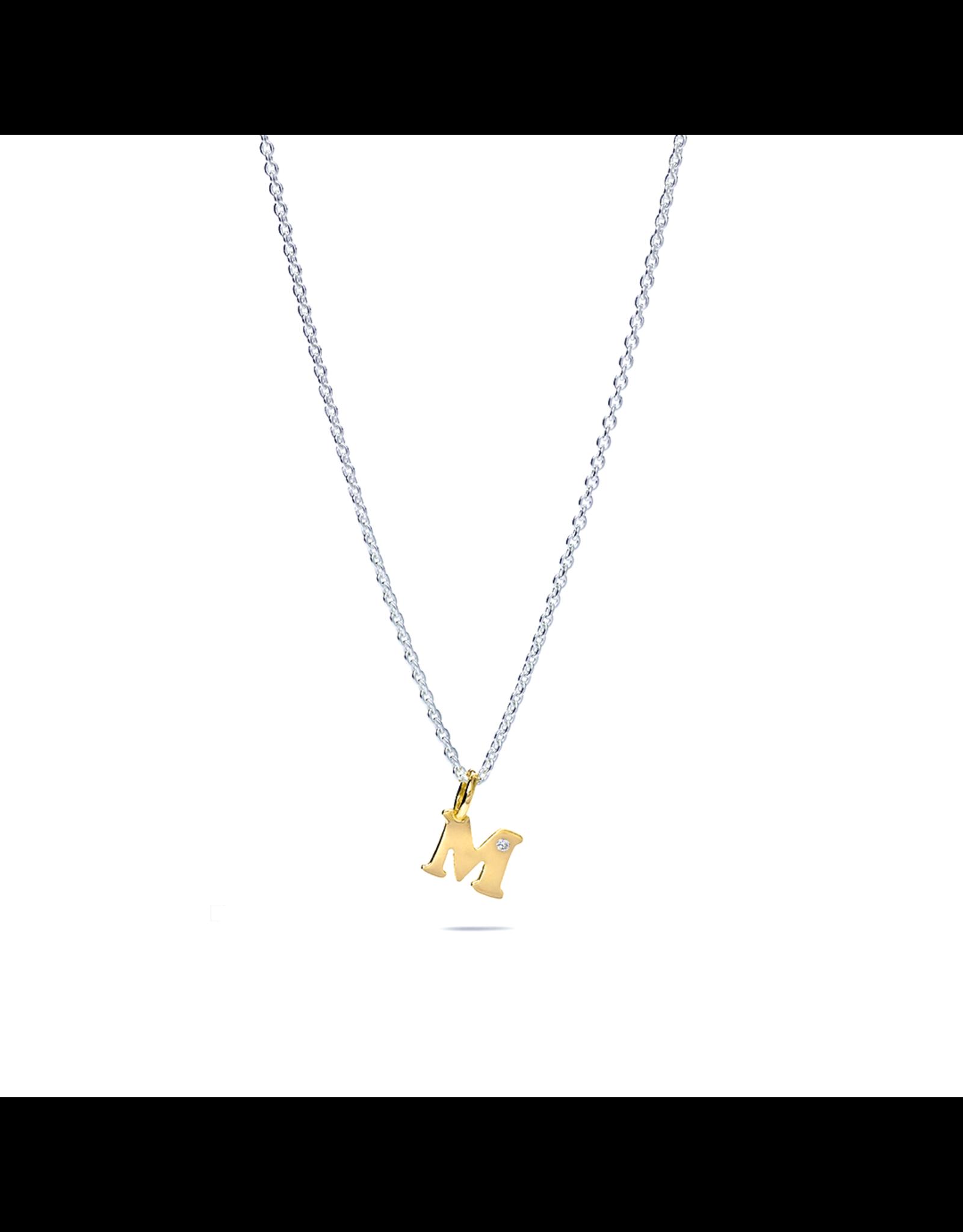 Miss Spring Hanger Geel Goud 18kt MSH222-GG letter A (zonder diamantje)