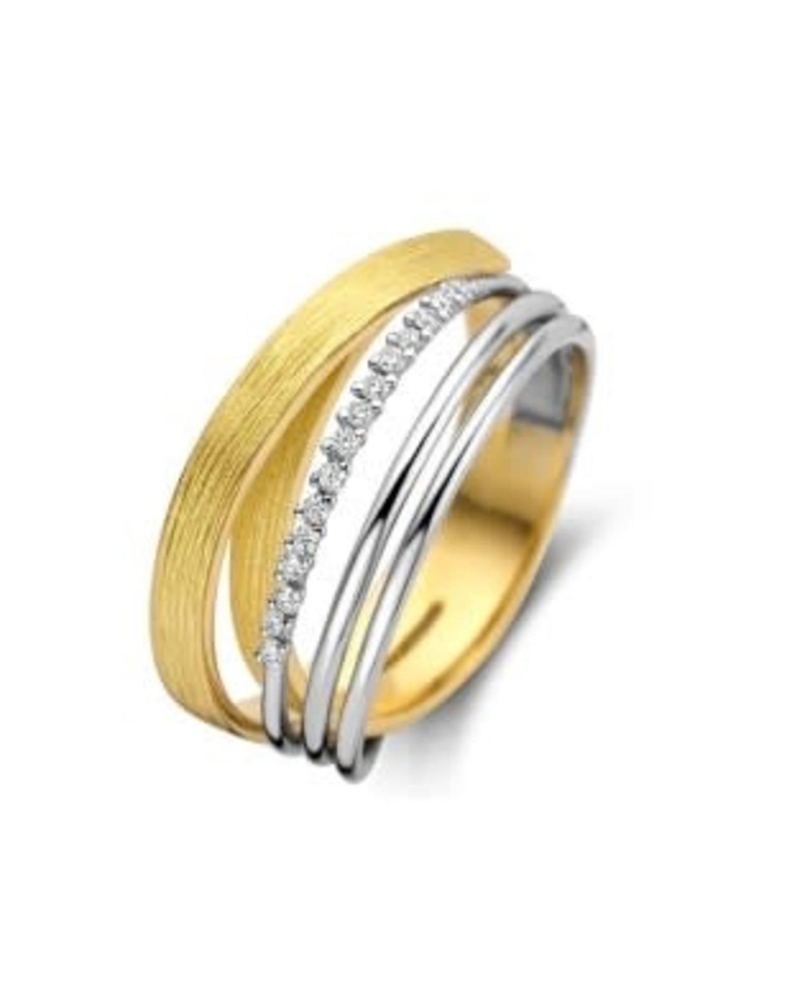Ring Bicolor Geel/Wit Goud 18kt SR3492BB