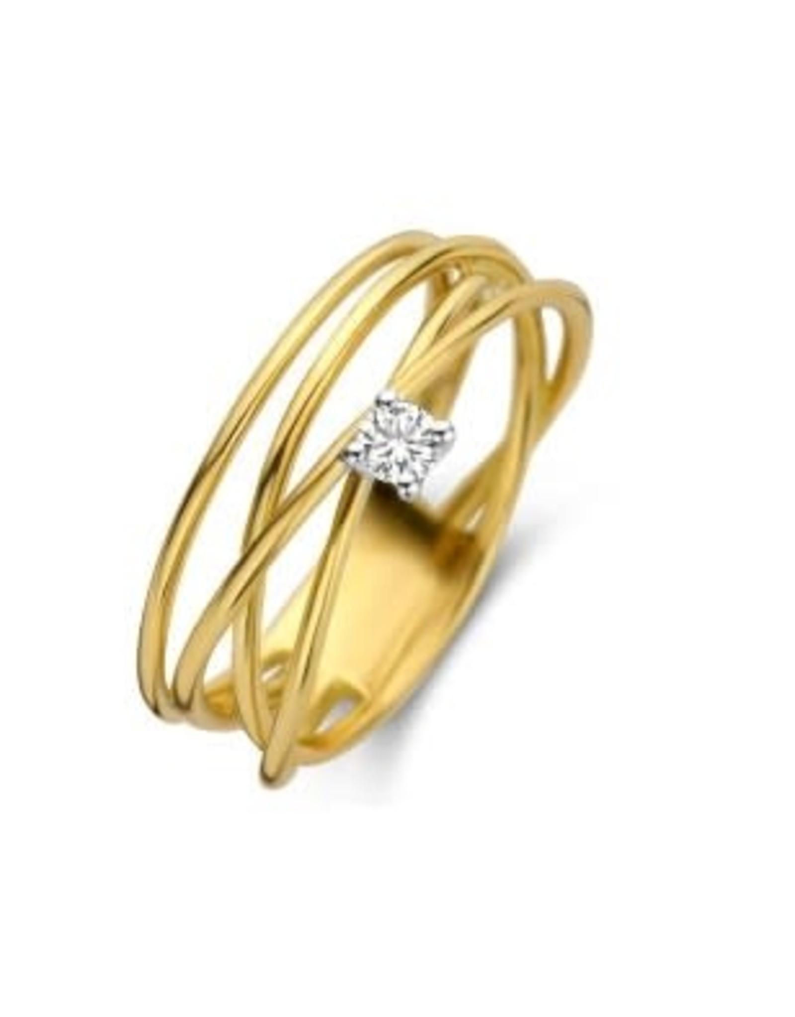 Ring Wit/Geel Goud Bicolor 18kt SR3493BB