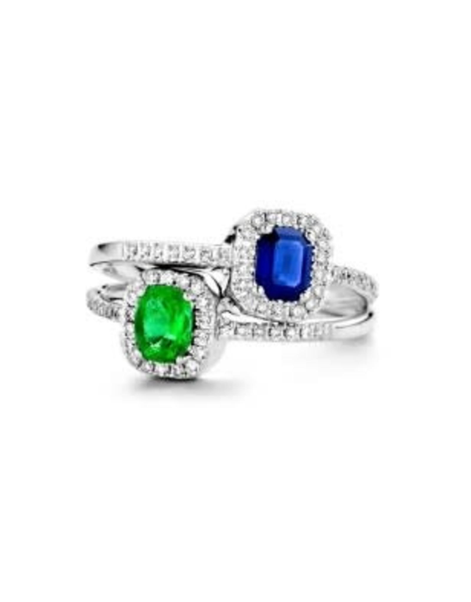 Ring Wit Goud 18kt GR4044WEB Smaragd 0.12ct