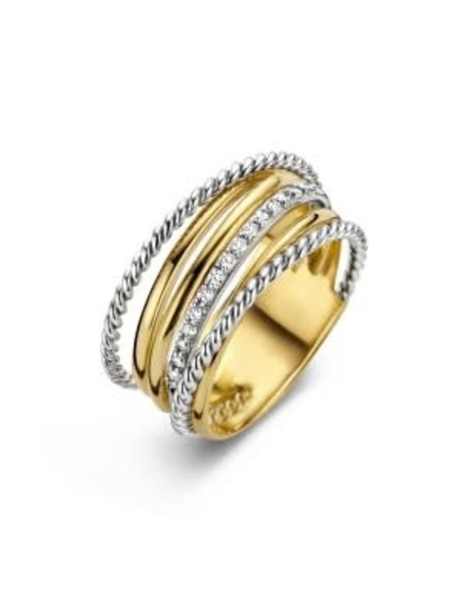 Ring Bicolor Geel/Wit Goud 18kt SR3360BB