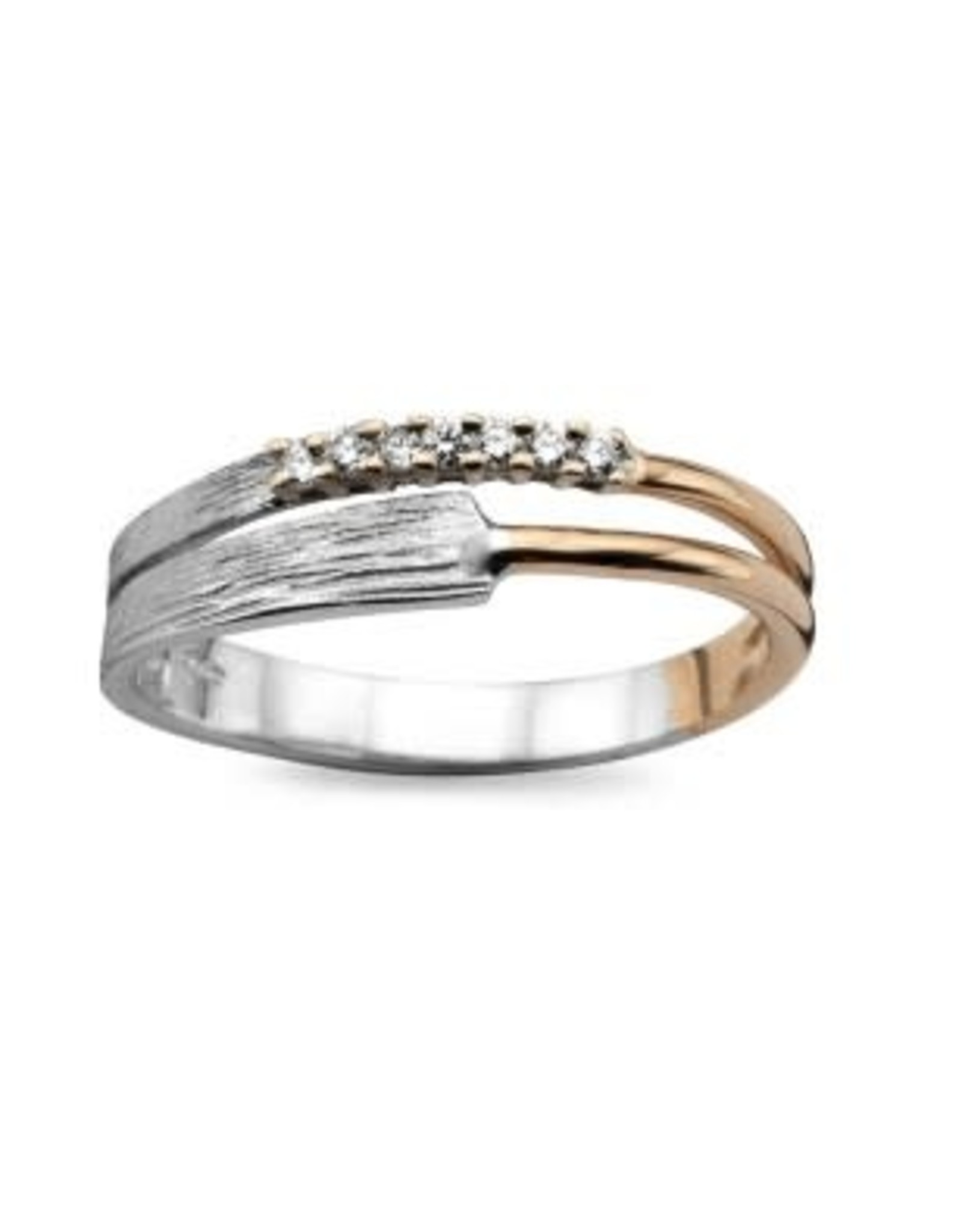 Ring Bicolor Geel/Wit Goud 18kt SR3231BB Briljant
