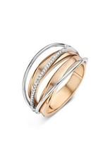 Ring Bicolor Geel/Wit Goud 18kt SR3312BB maat 56