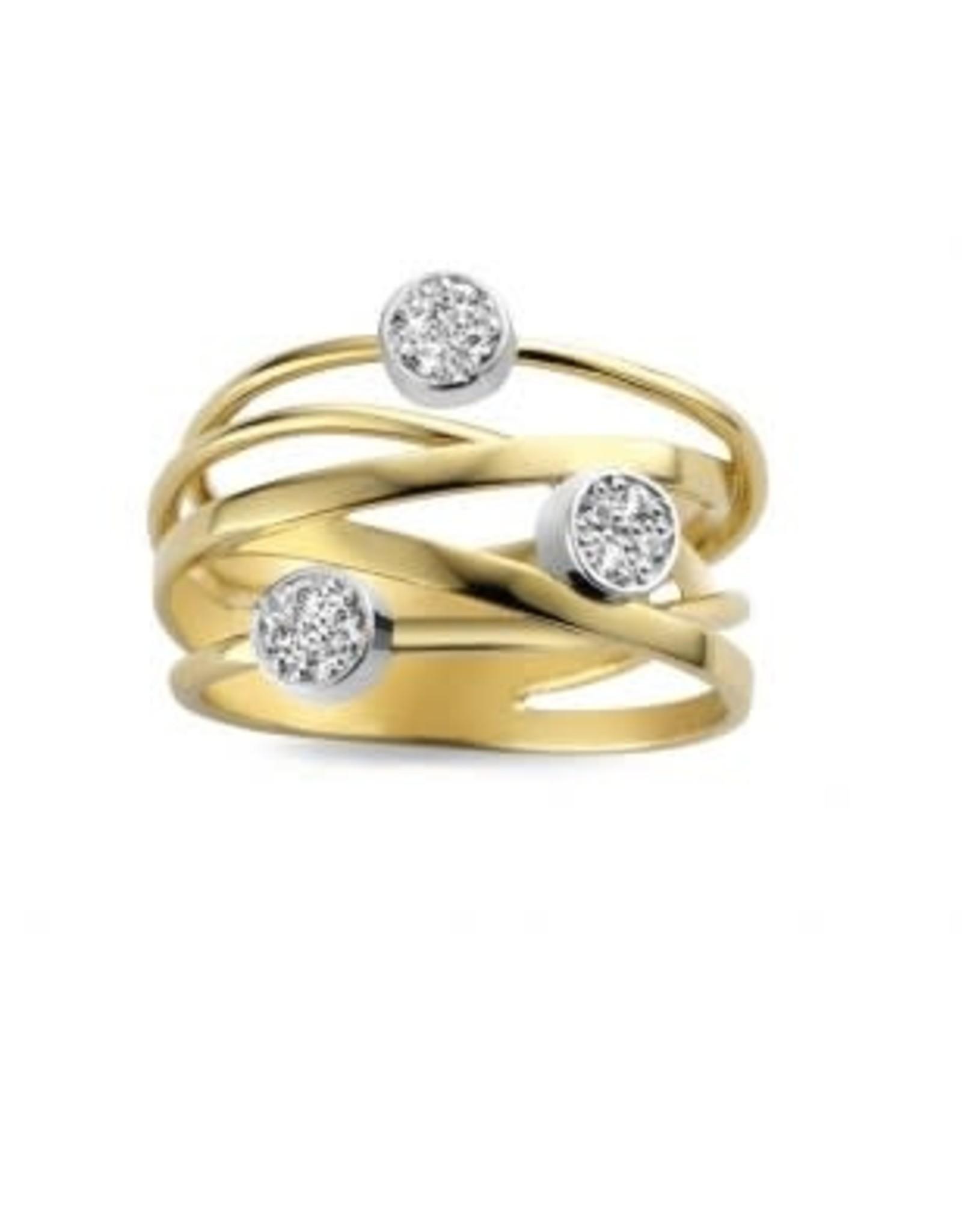 Ring Bicolor Geel/Wit Goud 18kt SR3200BB maat 57