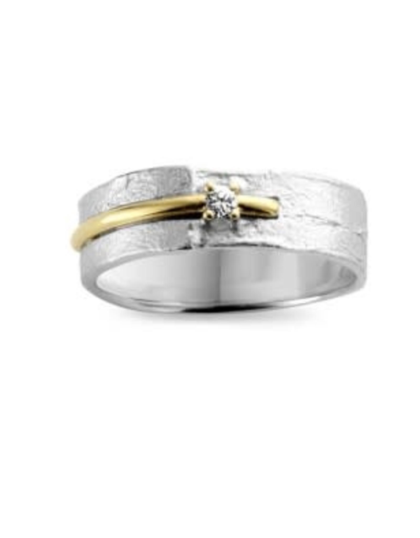 Ring Bicolor Geel/Wit Goud 18kt SR3204BB