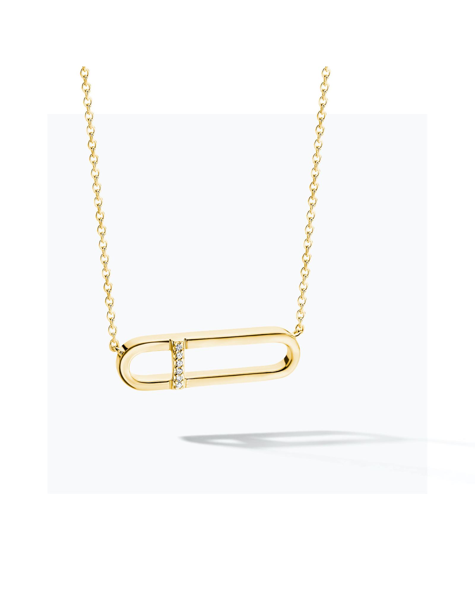 FJF Jewellery Halsketting FJF0010010YWH Zilver Goud Verguld