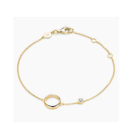 FJF Jewellery Armband FJF0050005YWH Zilver Goud Verguld Circle