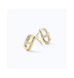 FJF Jewellery Oorbellen FJF0030013YWH Zilver Goud Verguld