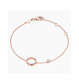 FJF Jewellery Armband FJF0050005RWH Circle Silver 925 Rose Gold Plated