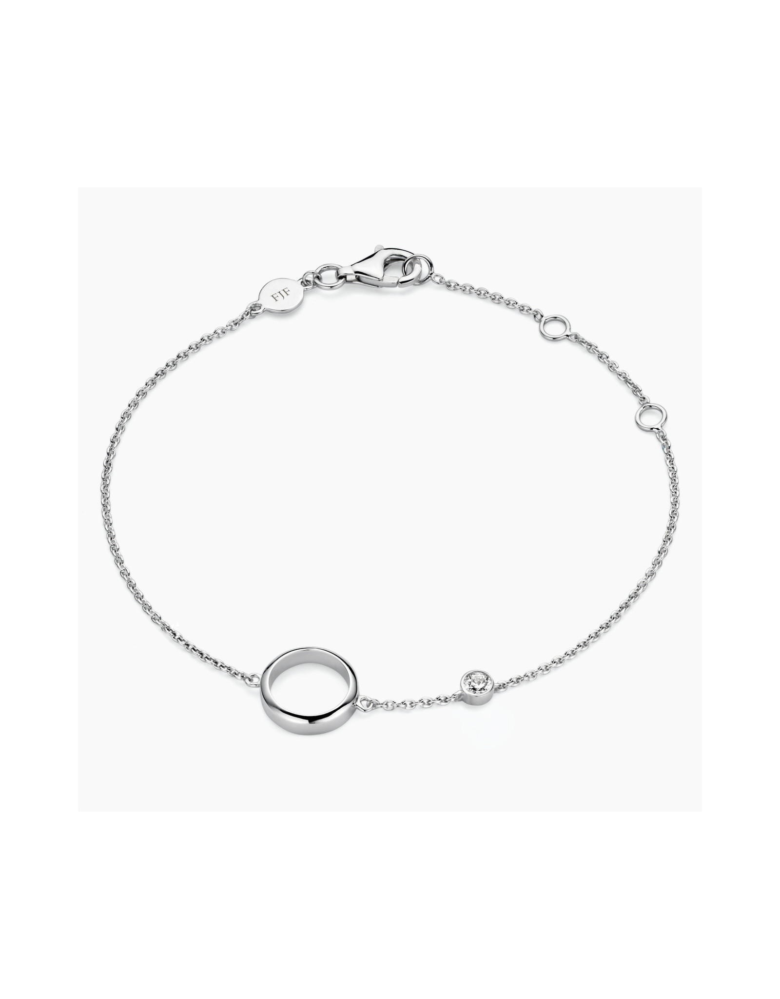 FJF Jewellery Armband FJF0050005SWH Circle Silver 925