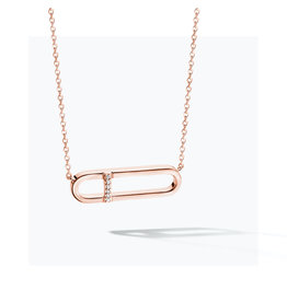 FJF Jewellery Halsketting FJF0010010RWH Zilver Roos Goud Verguld New Icon Necklace Silver 925