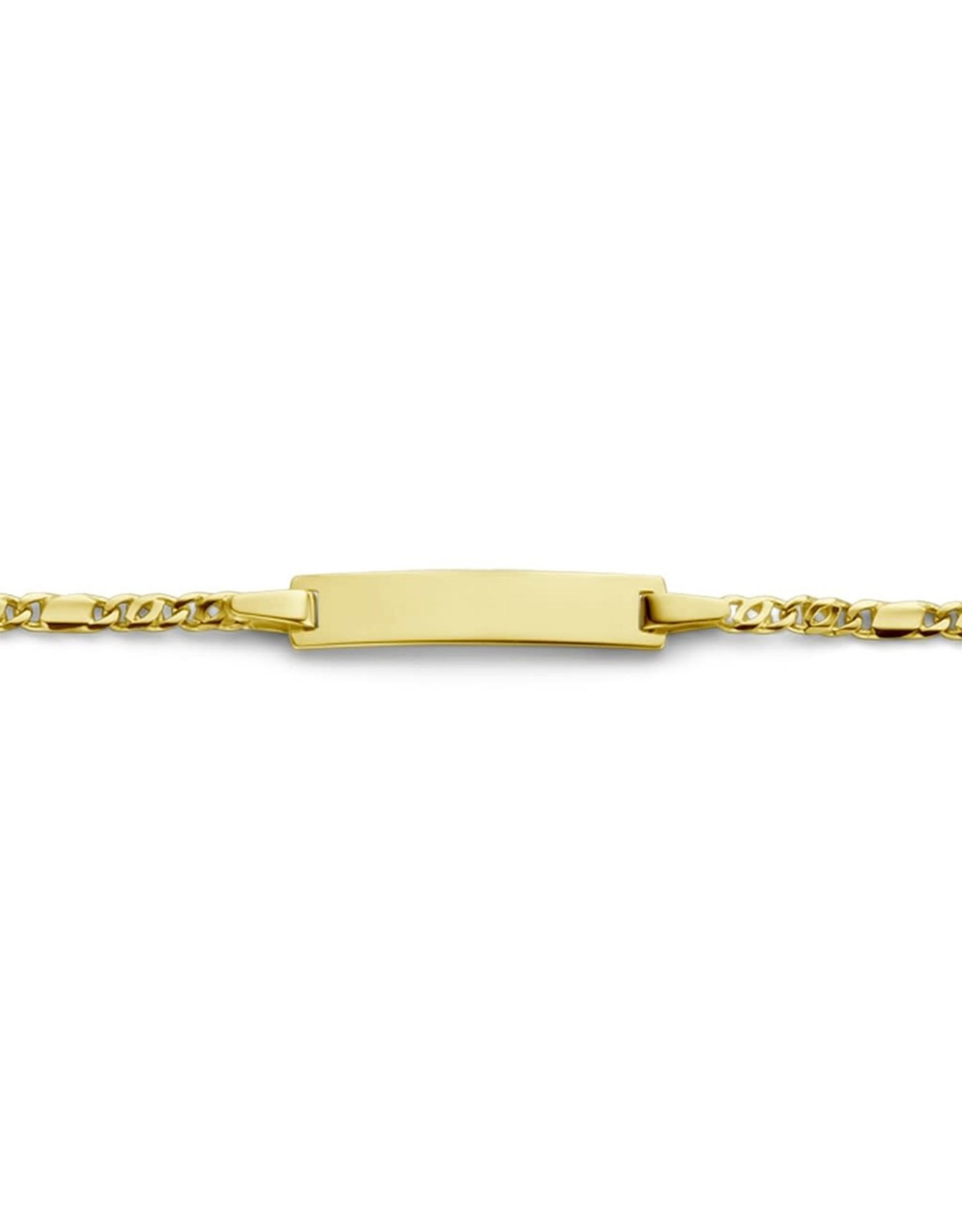 Armband met naamplaatje Geel Goud 18kt ID0125